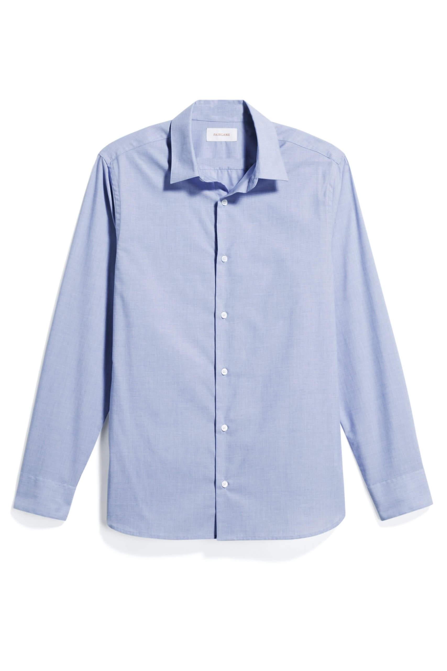 Stitch Fix Men's light blue collared dress shirt.