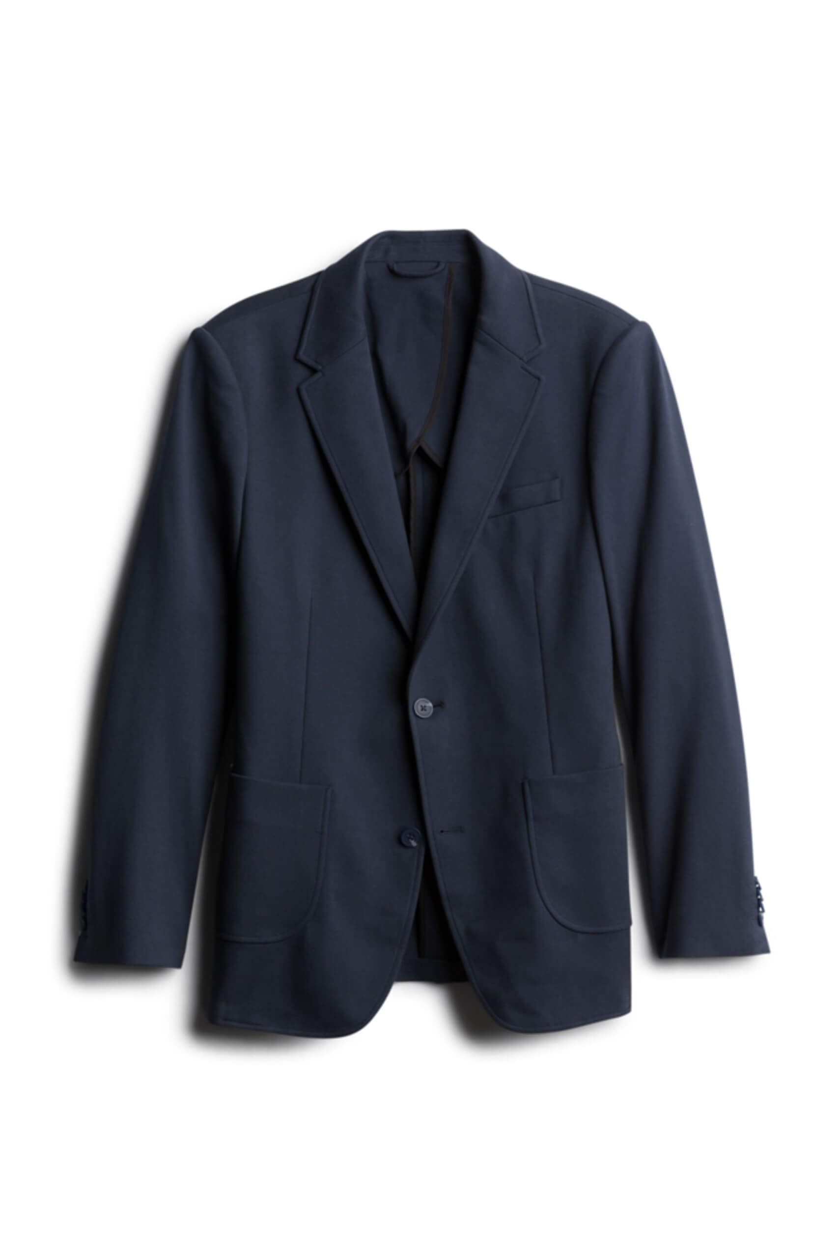 Stitch Fix Men's navy knit blazer.