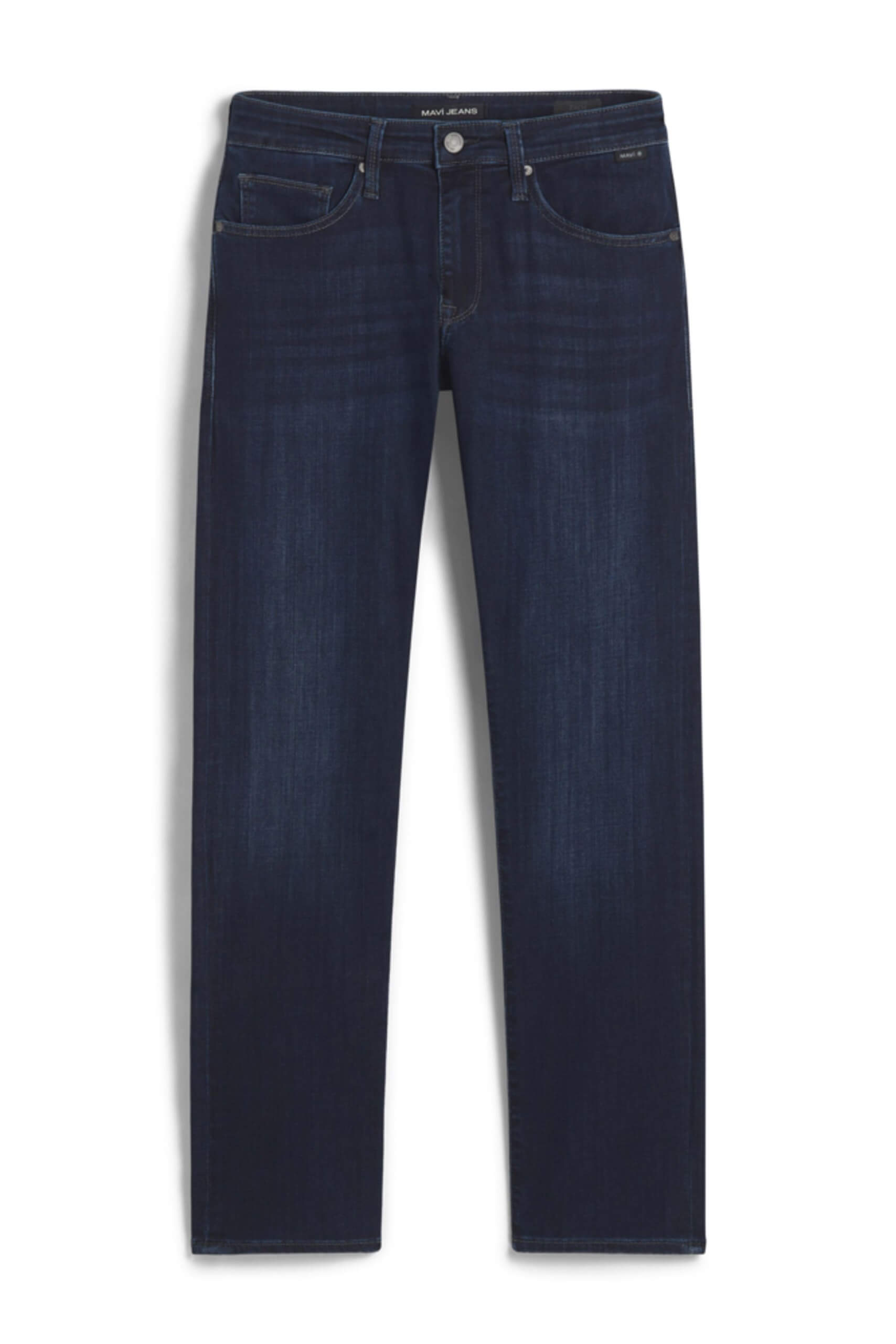 Stitch Fix Men's dark wash straight-leg jeans.