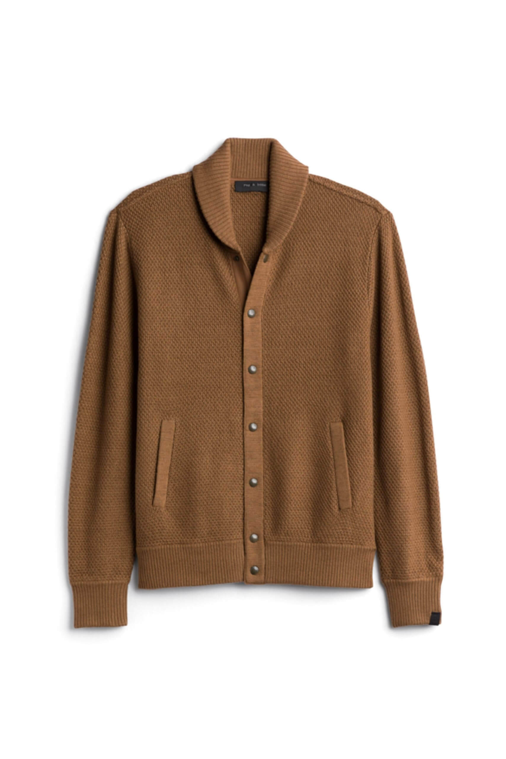 Stitch Fix Men's brown shawl cardigan.