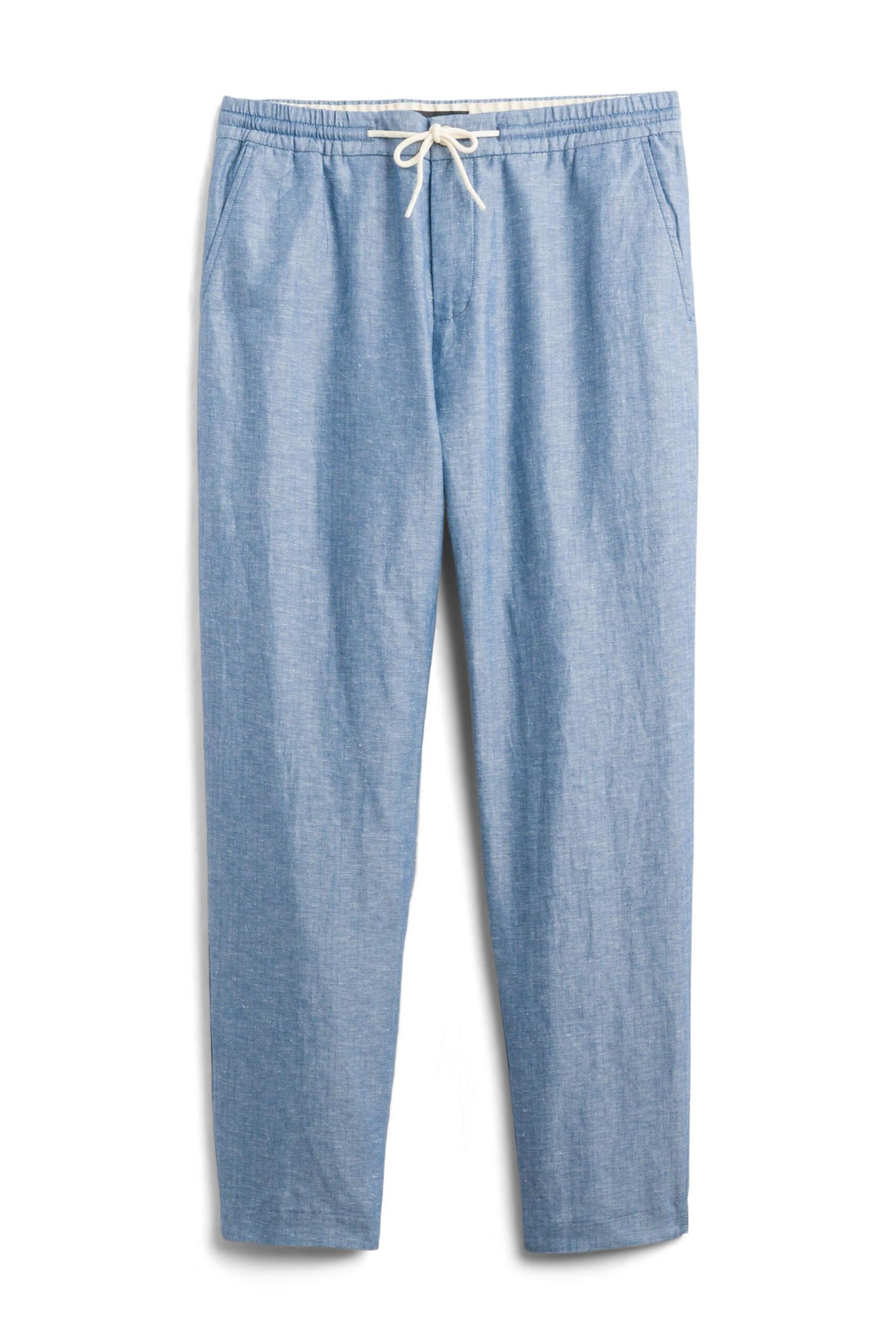 Stitch Fix Men's blue linen pants.