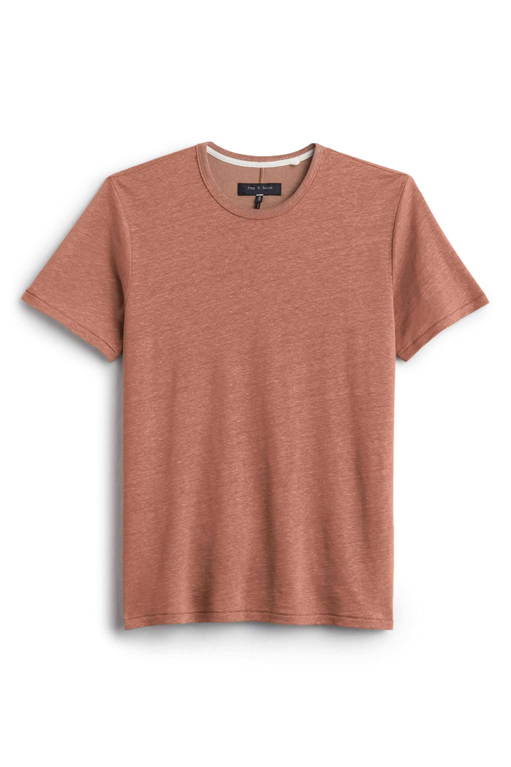 Stitch Fix Men's rusted orange crewneck t-shirt.