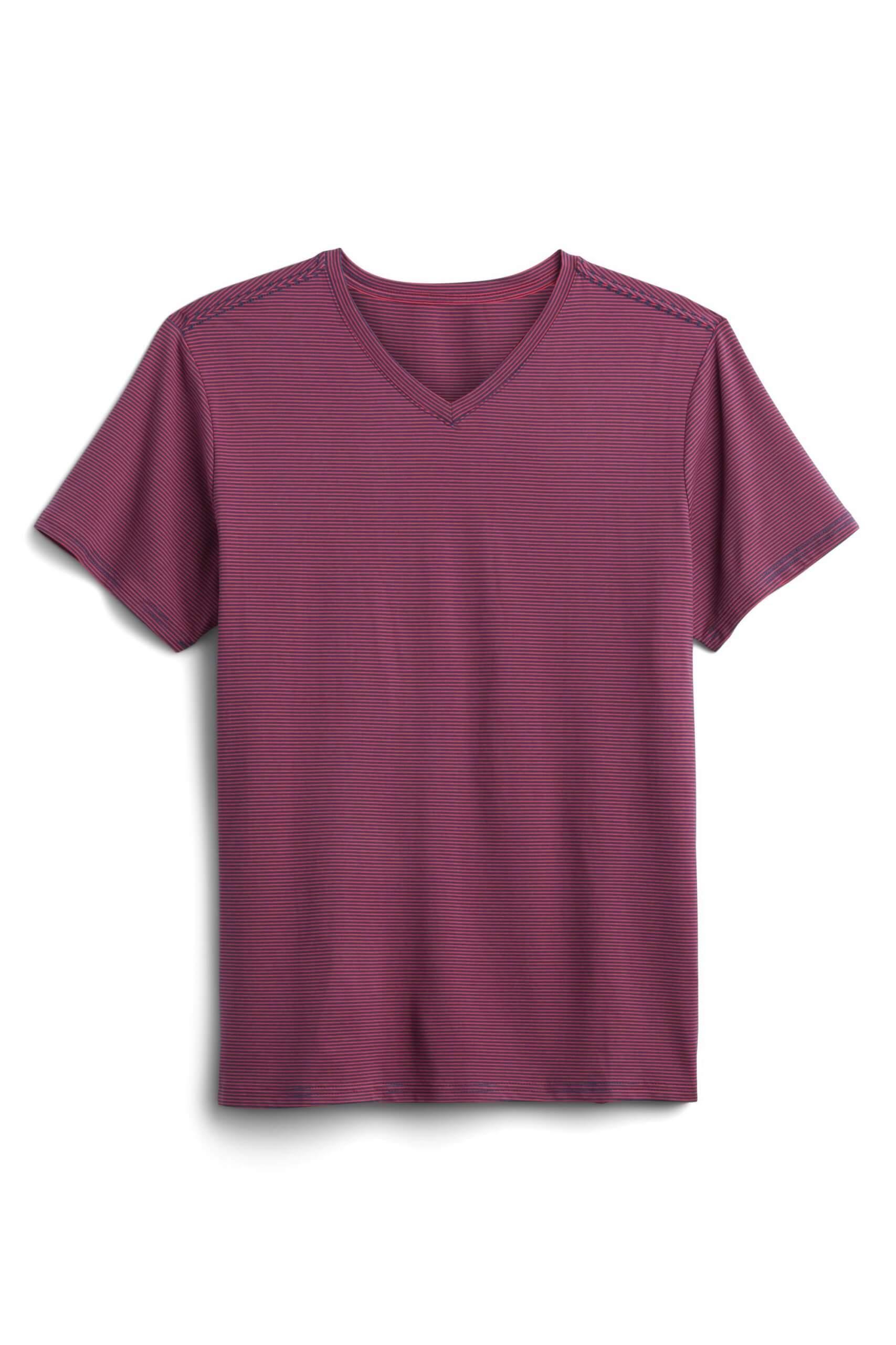 Stitch Fix Men's burgundy v-neck t-shirt.