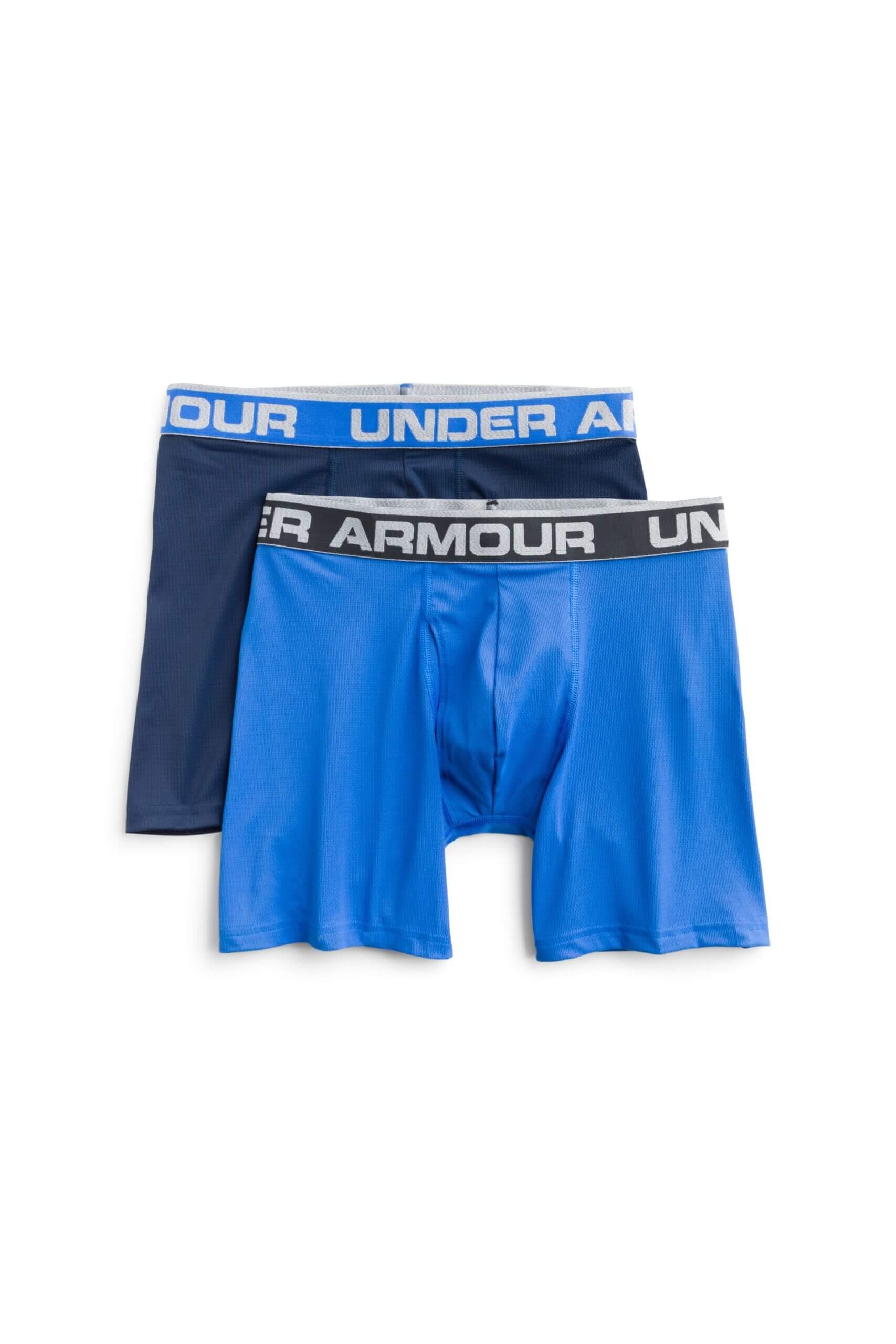 Stitch Fix Men's blue two pack of Under Armour boxer briefs.
