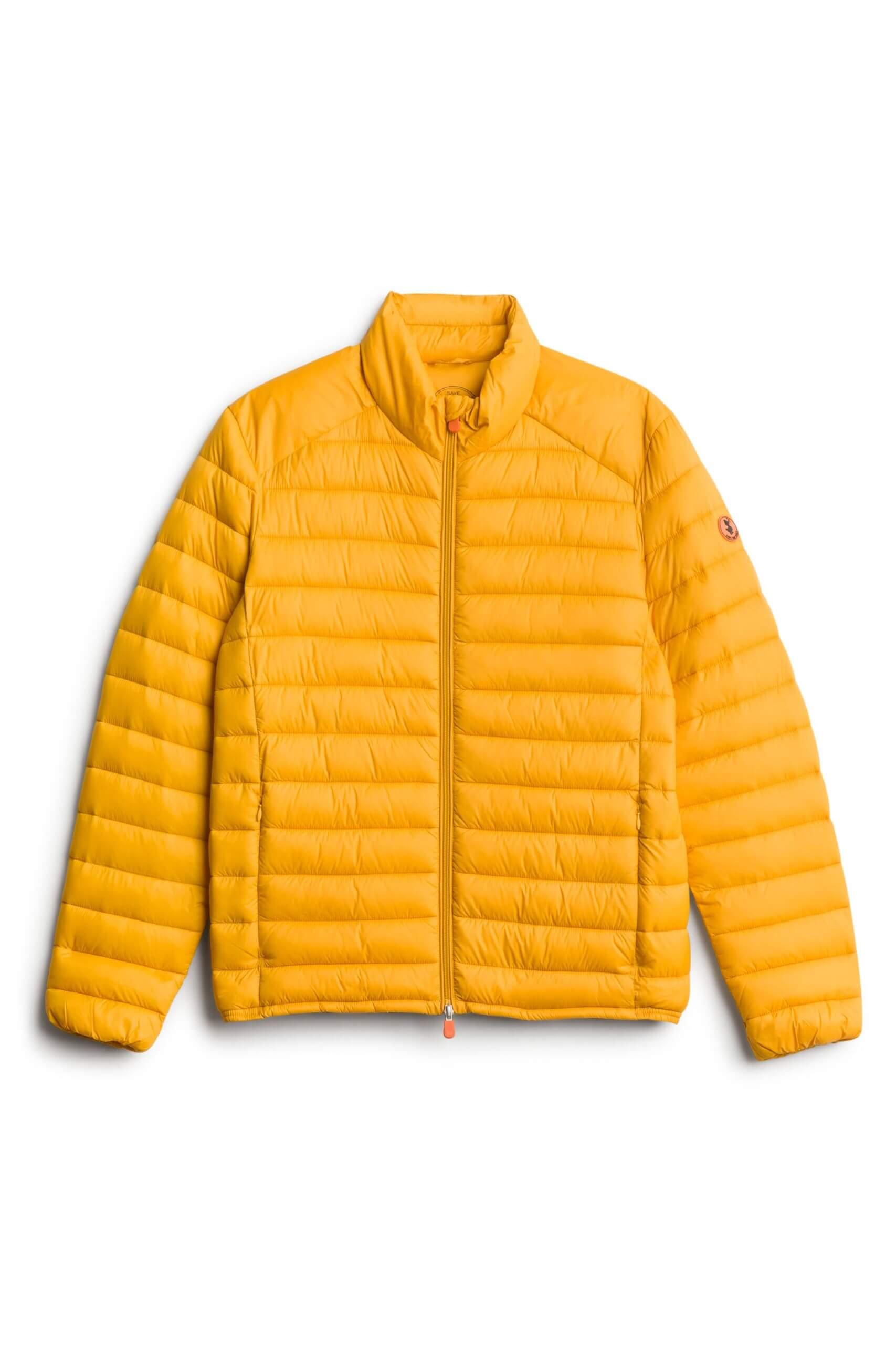 Stitch Fix men's yellow puffer jacket.