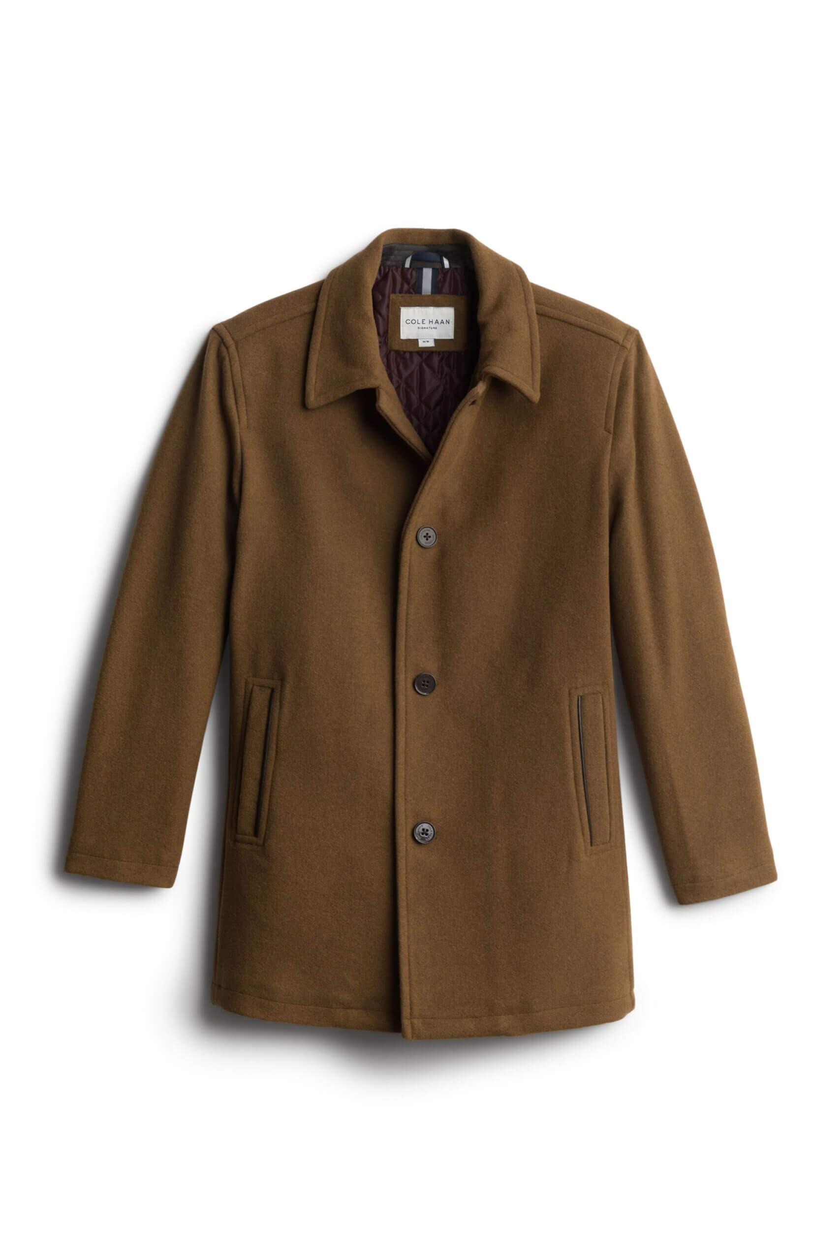 Stitch Fix men's brown wool car coat.