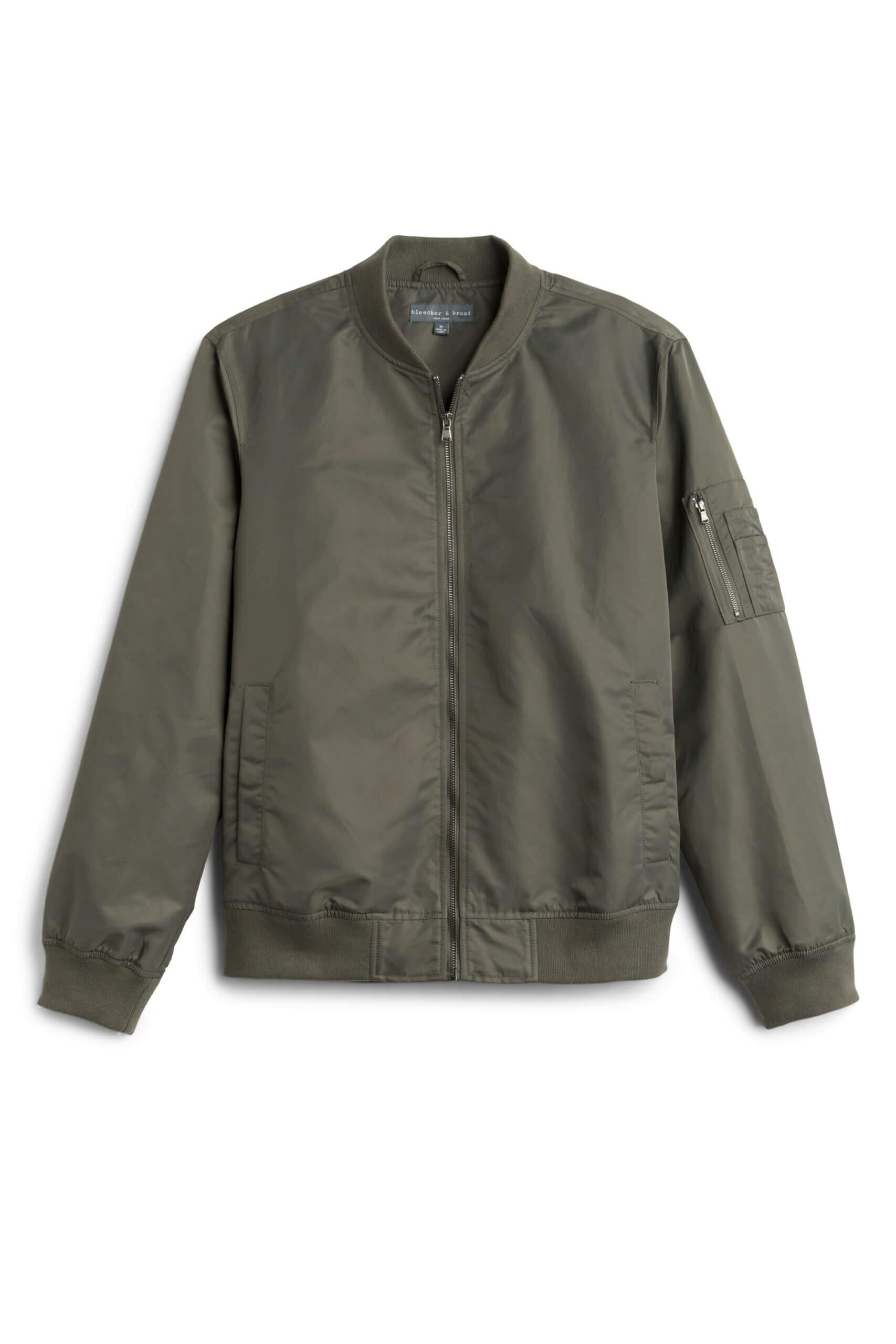 Stitch Fix Men's olive bomber jacket.
