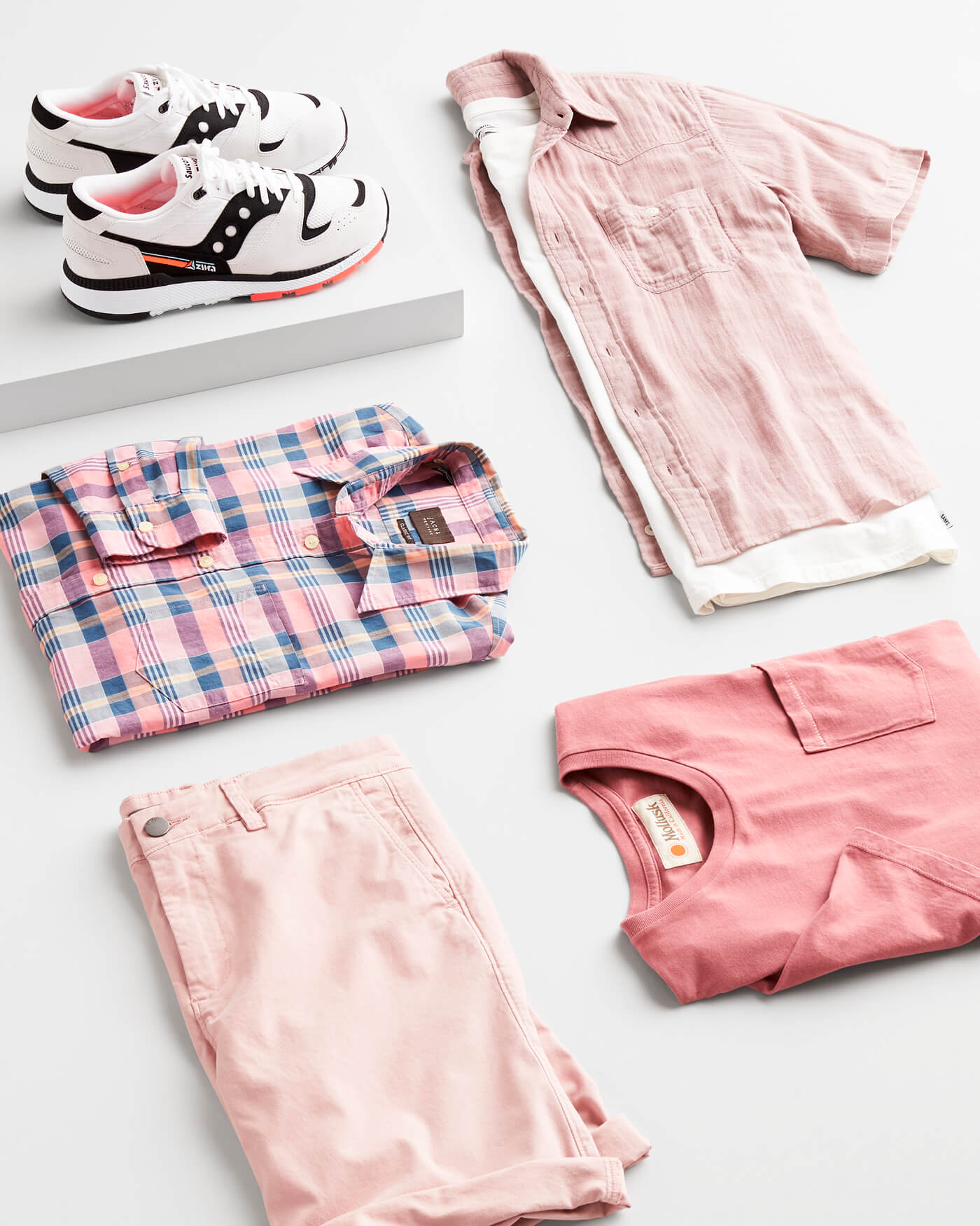 pink toned clothing