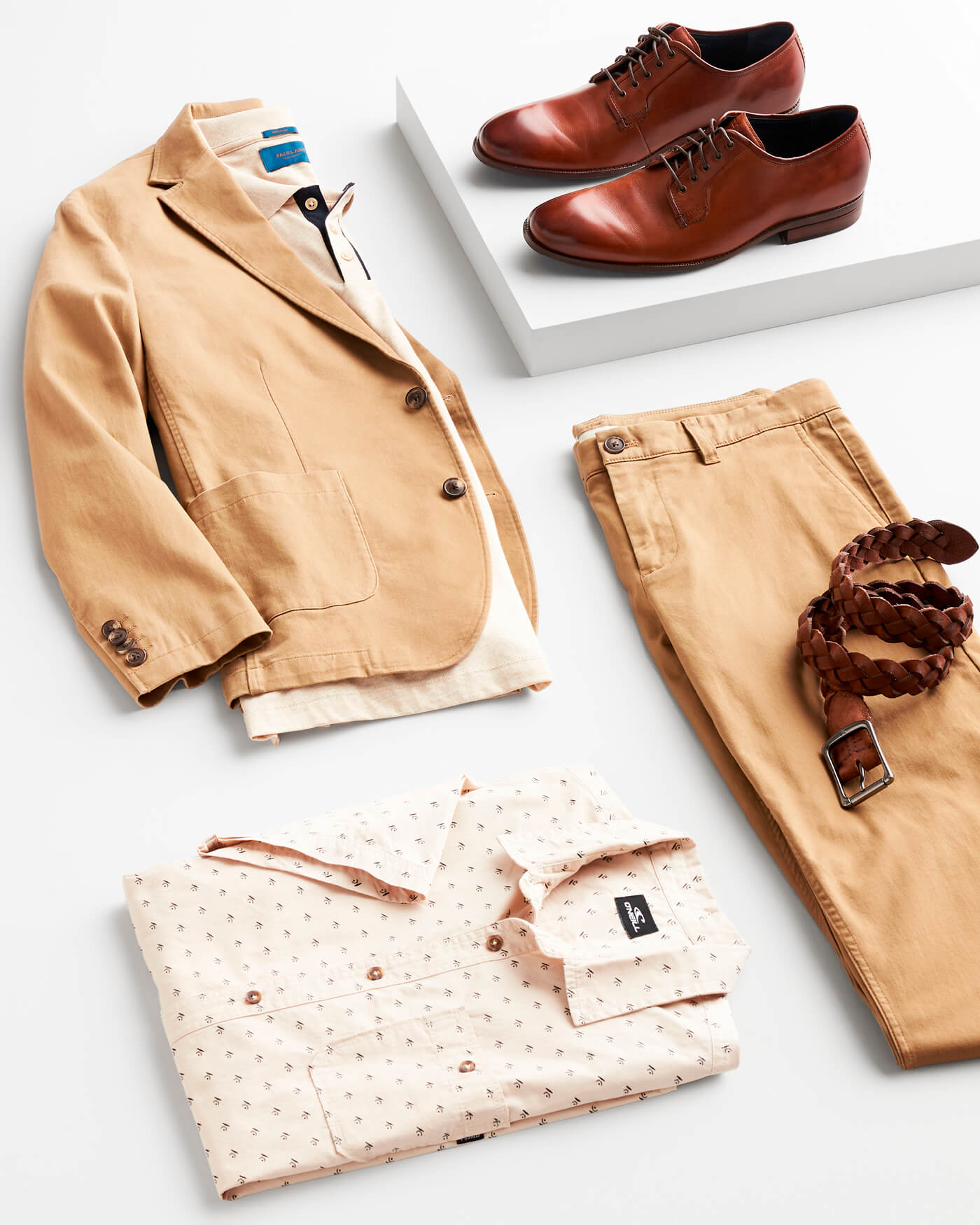 brown toned clothing