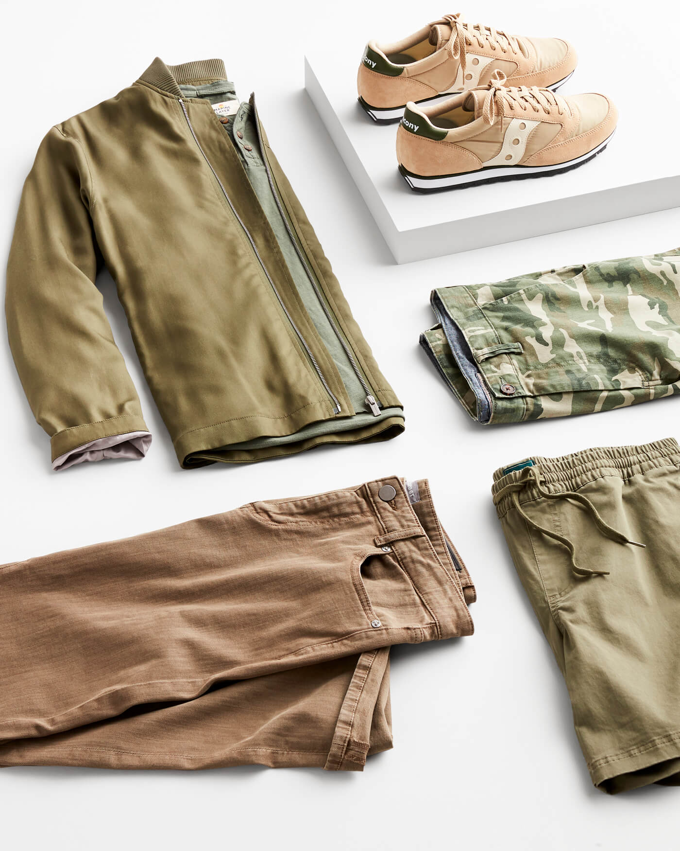 olive toned clothing
