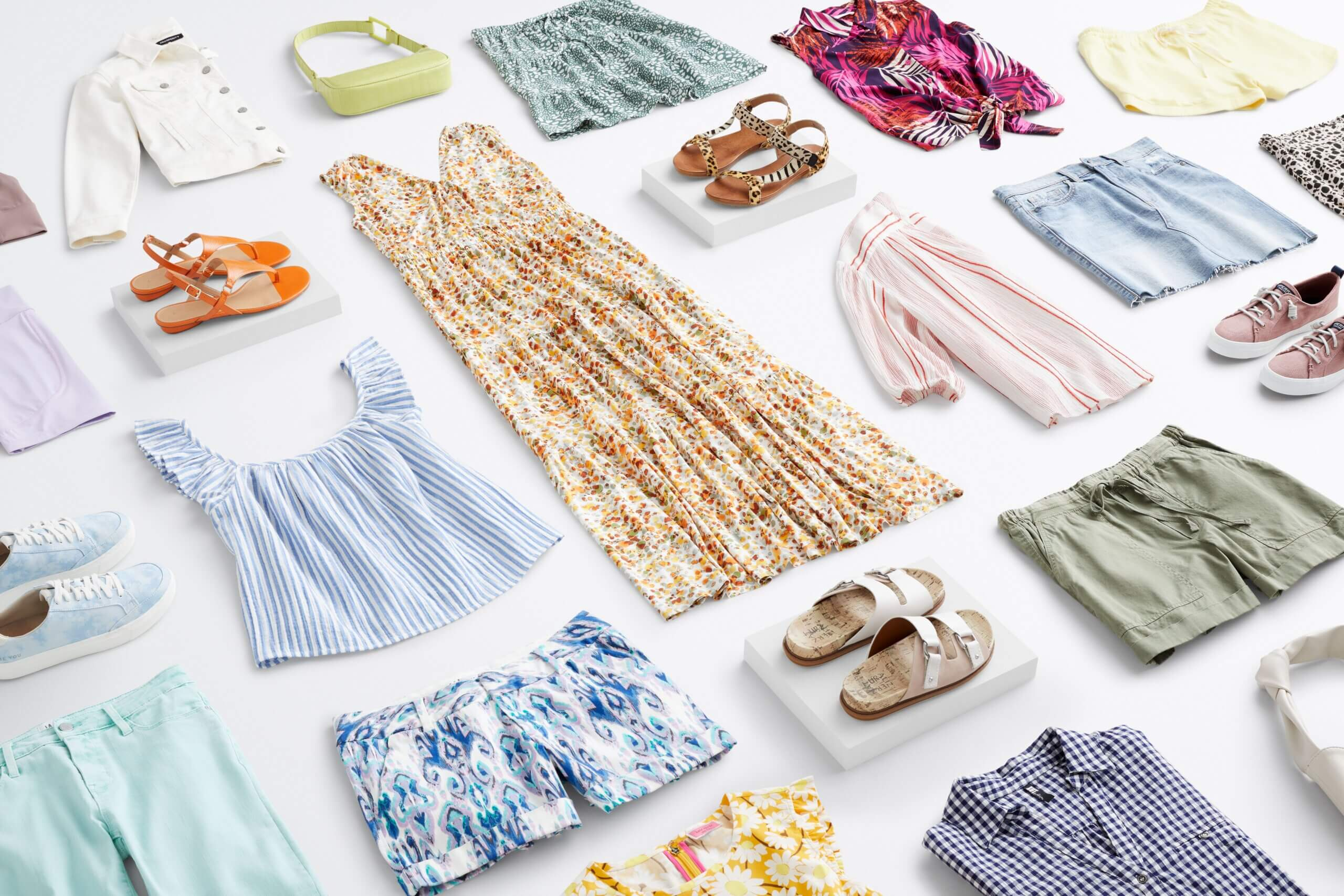 Stitch Fix women's resort wear in a variety of colors, prints and silhouettes.