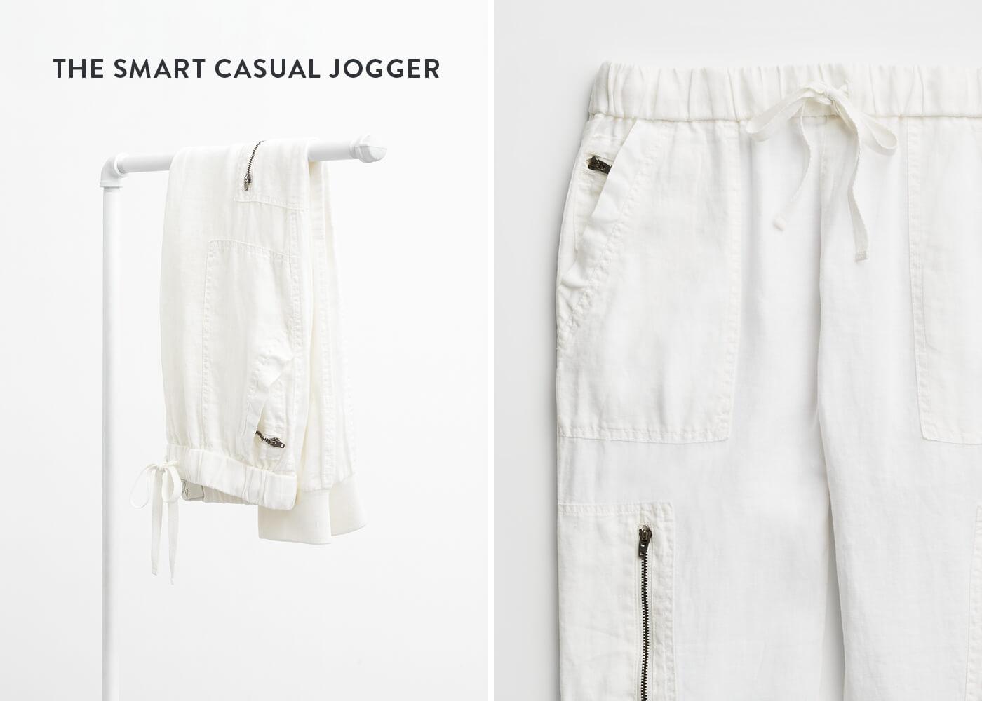white jogger pant