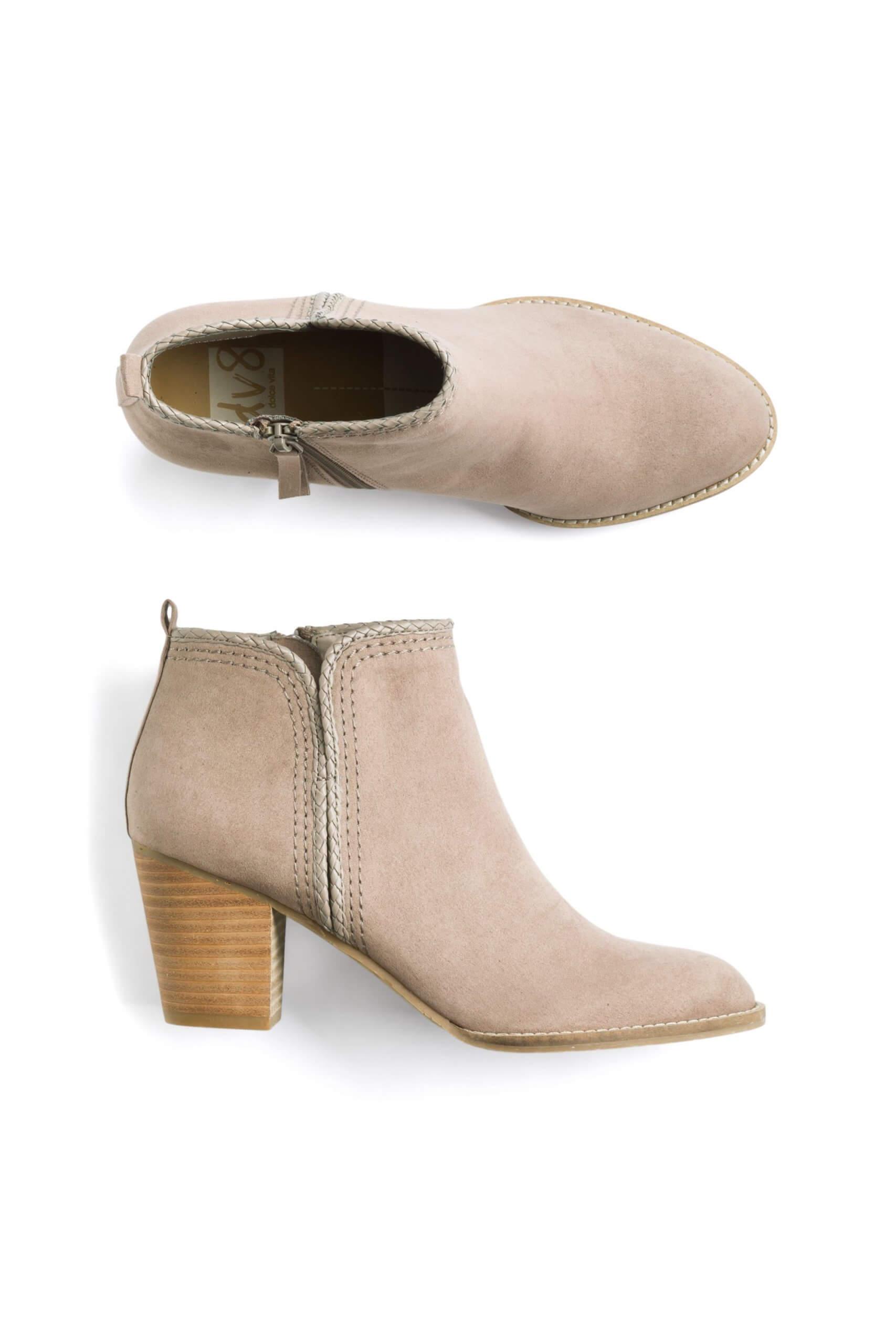 Stitch Fix Women's tan block heel booties.