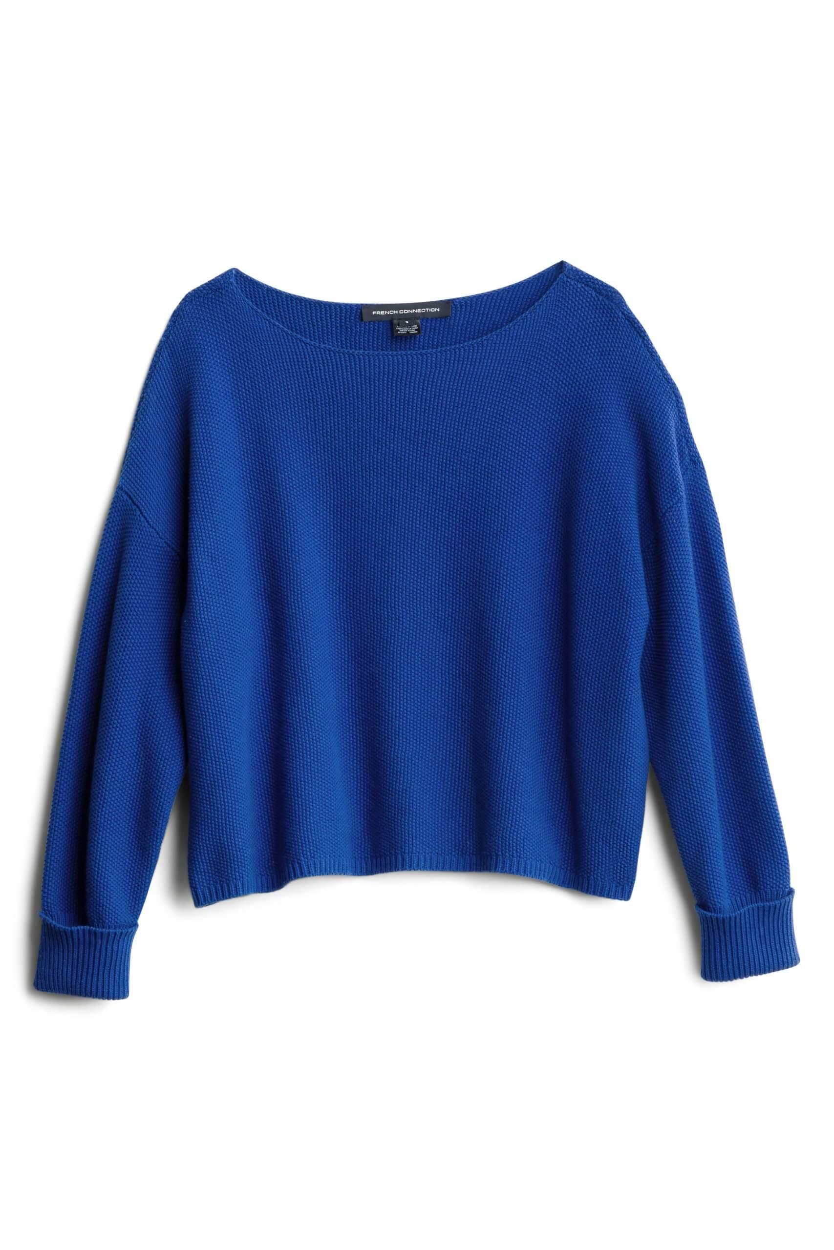 Stitch Fix Women's blue pullover sweater.
