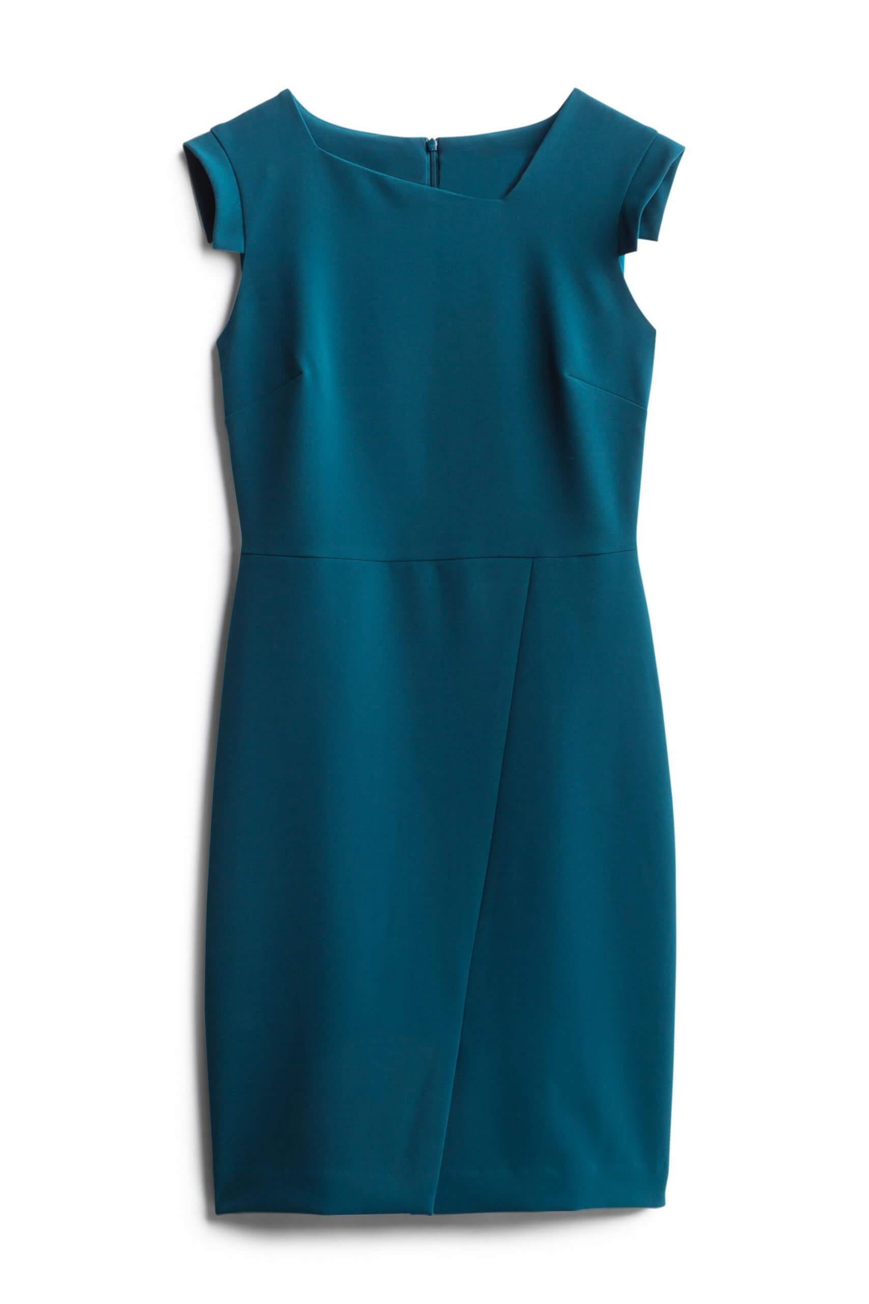 Stitch Fix Women's teal green sheath dress.