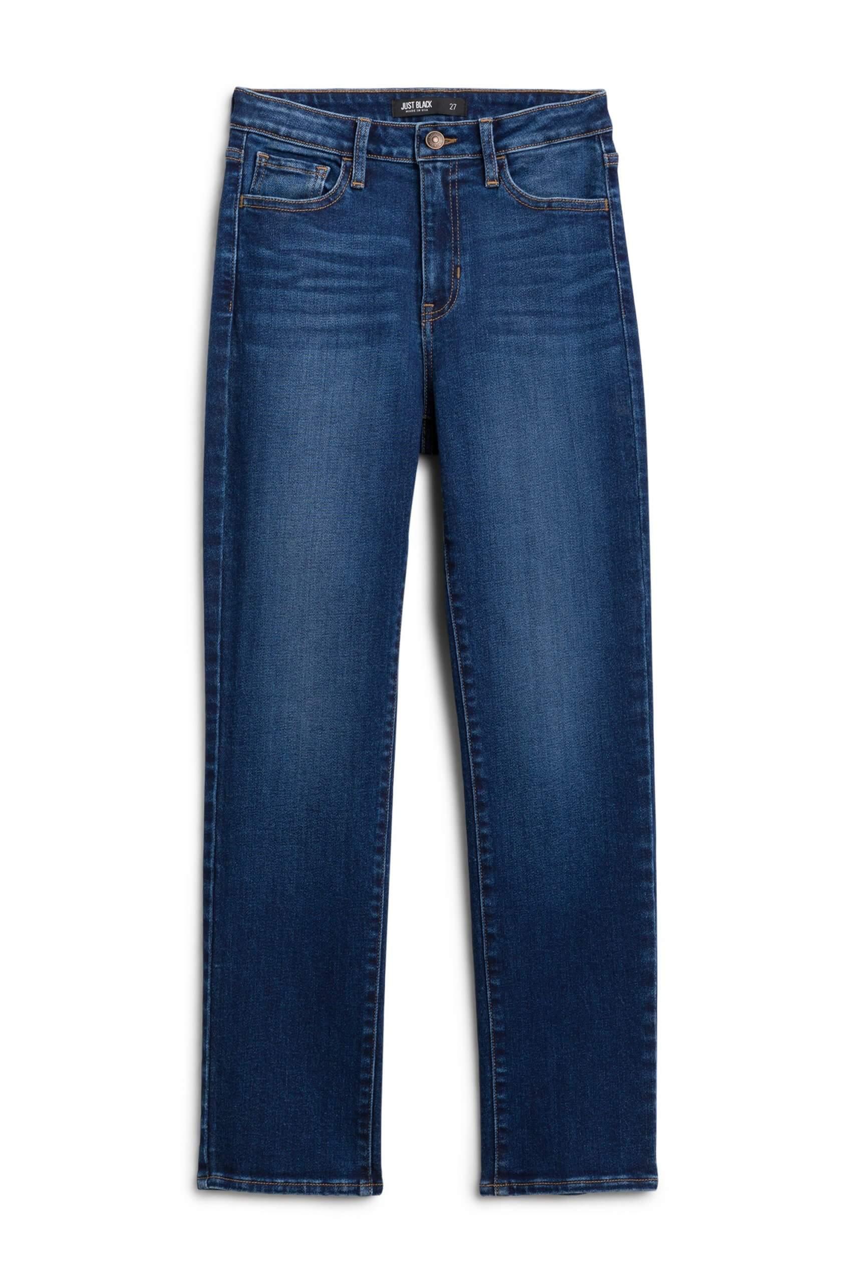 Stitch Fix Women's blue straight-fit jeans.
