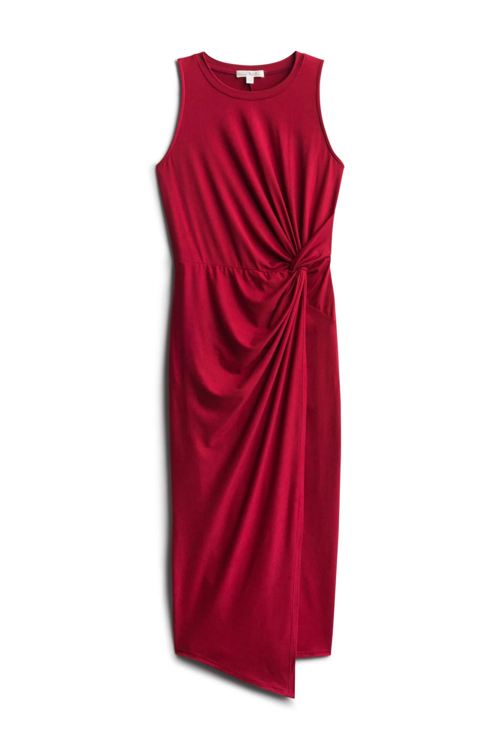Stitch Fix Women's burgundy midi dress.