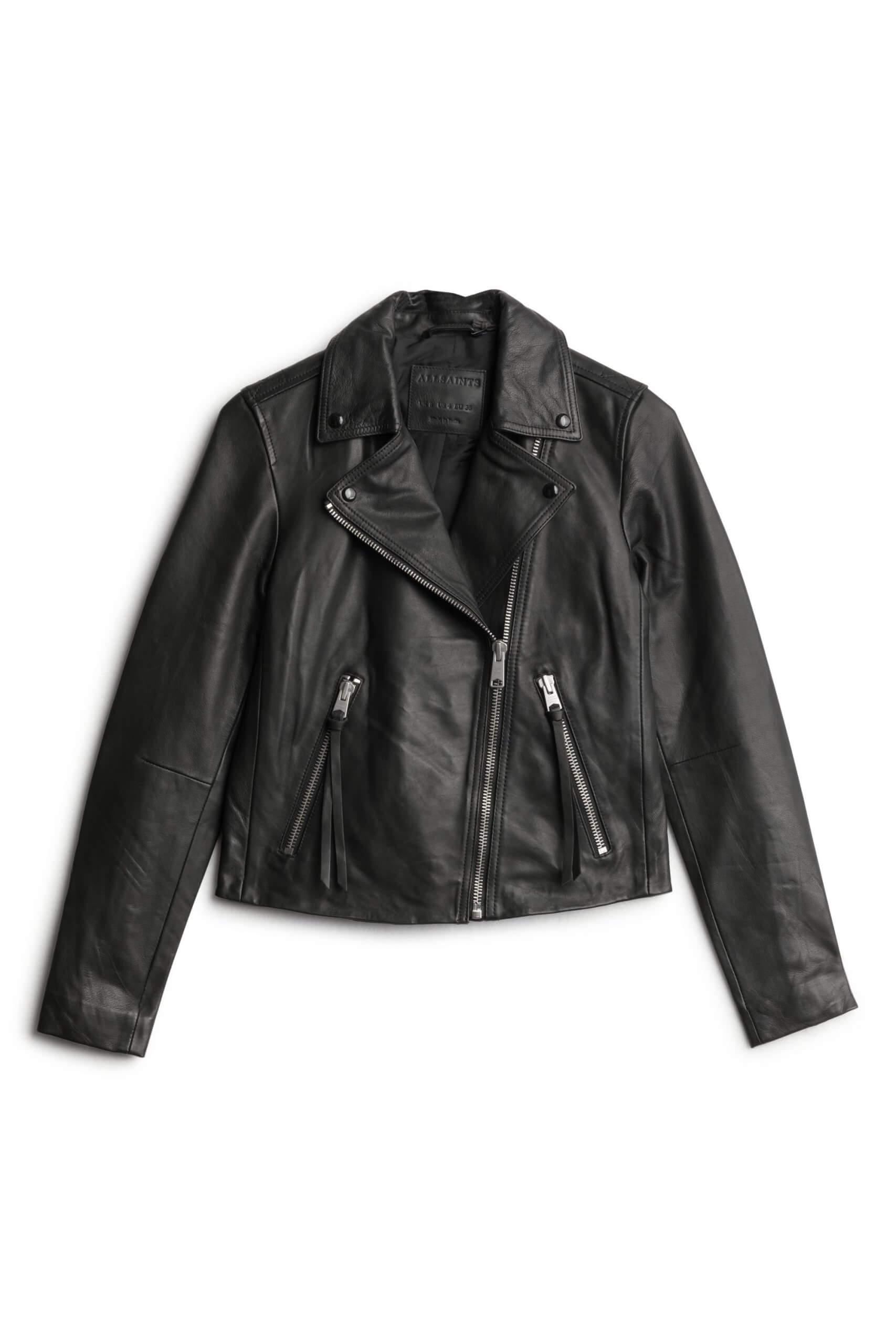 Stitch Fix Women's black moto jacket.