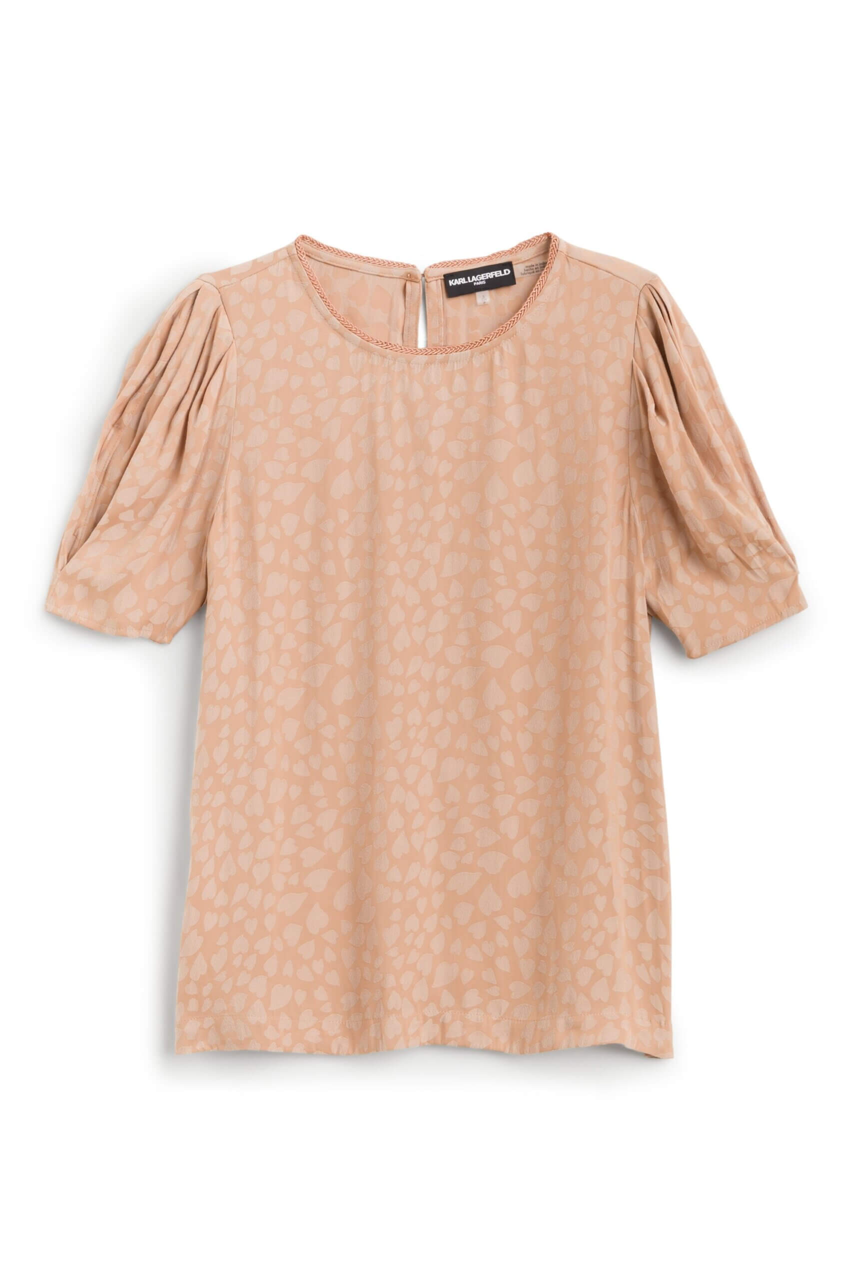Stitch Fix Women's tan animal print blouse.
