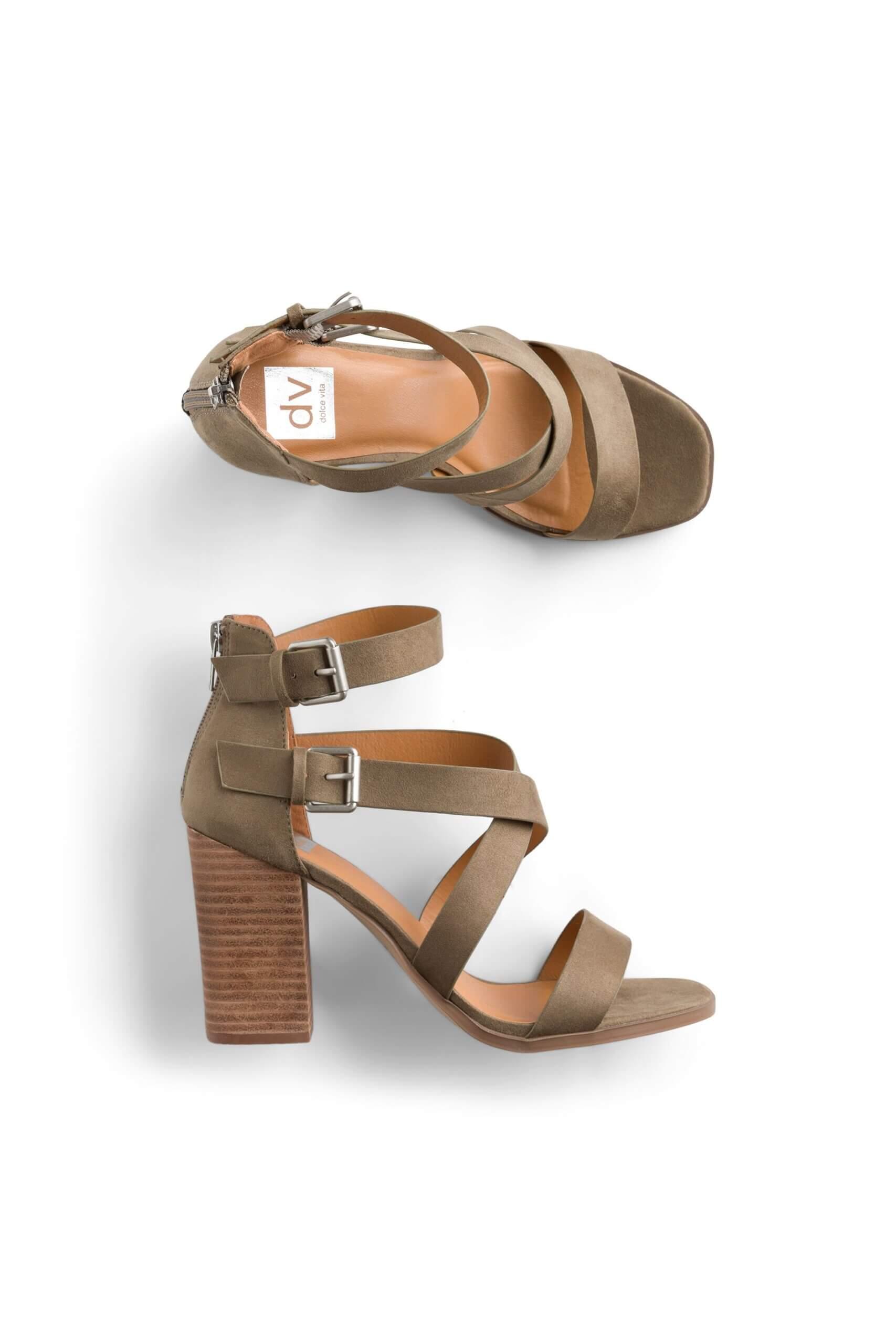 Stitch Fix Women's taupe block heel sandals.