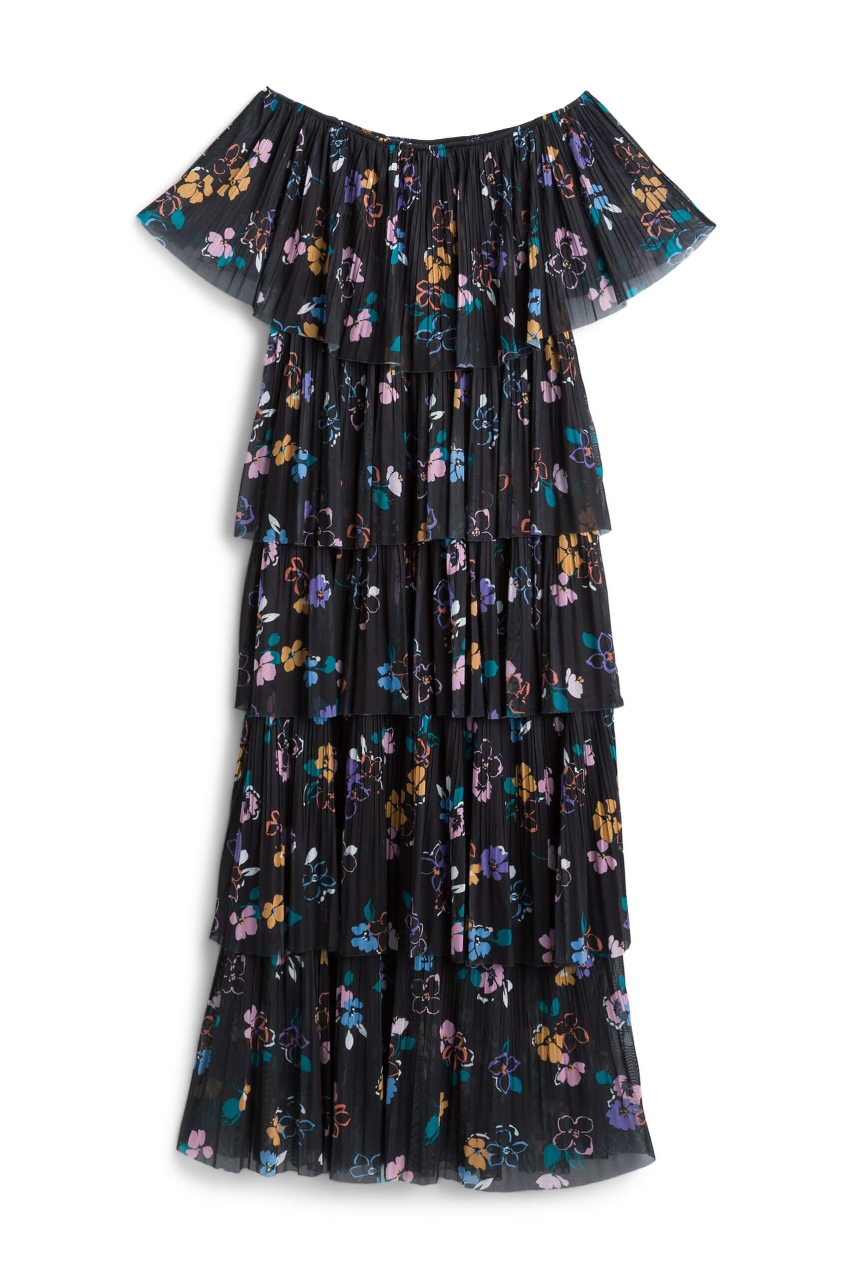 Stitch Fix women's navy floral maxi dress.