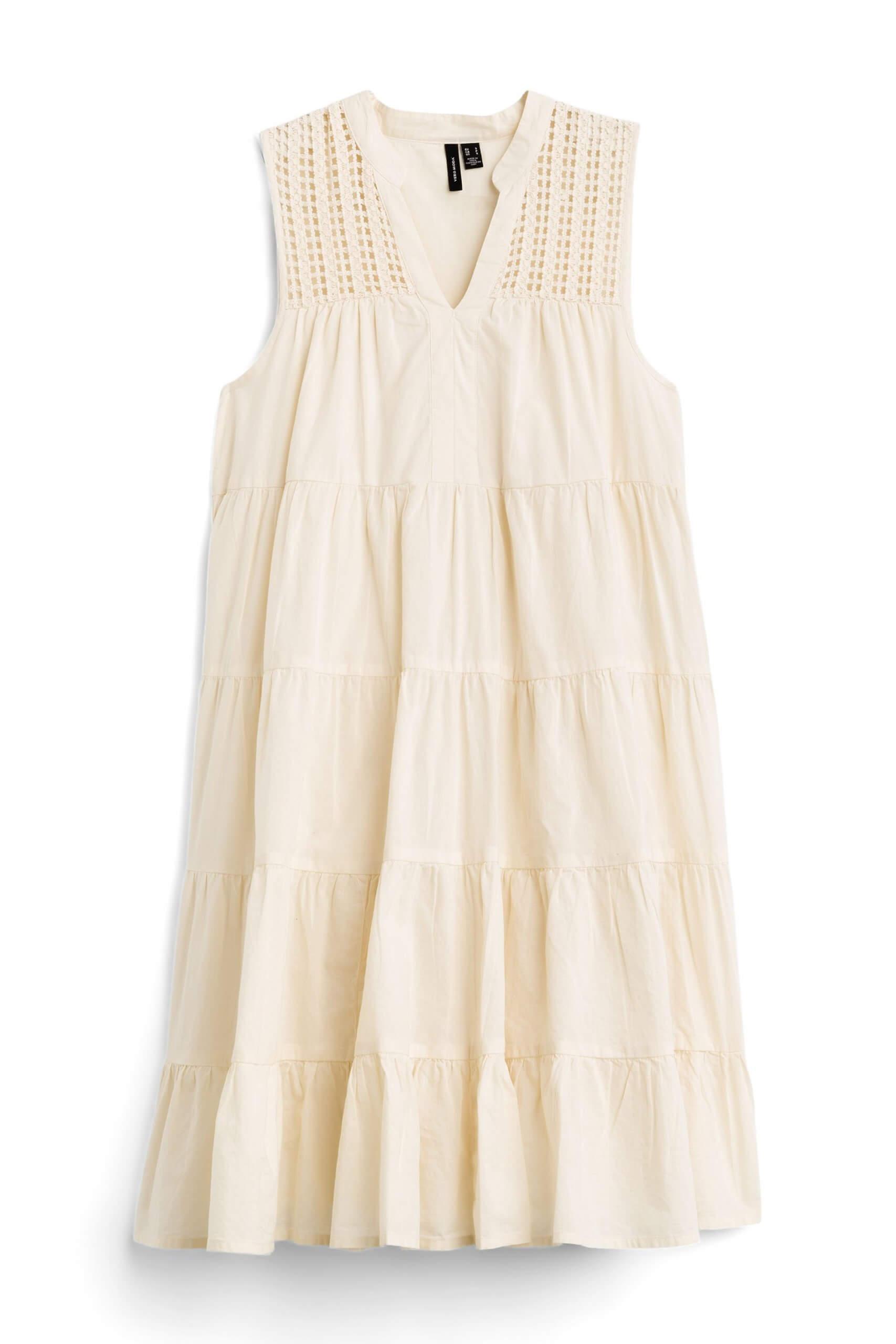 Stitch Fix Women's cream shift dress.