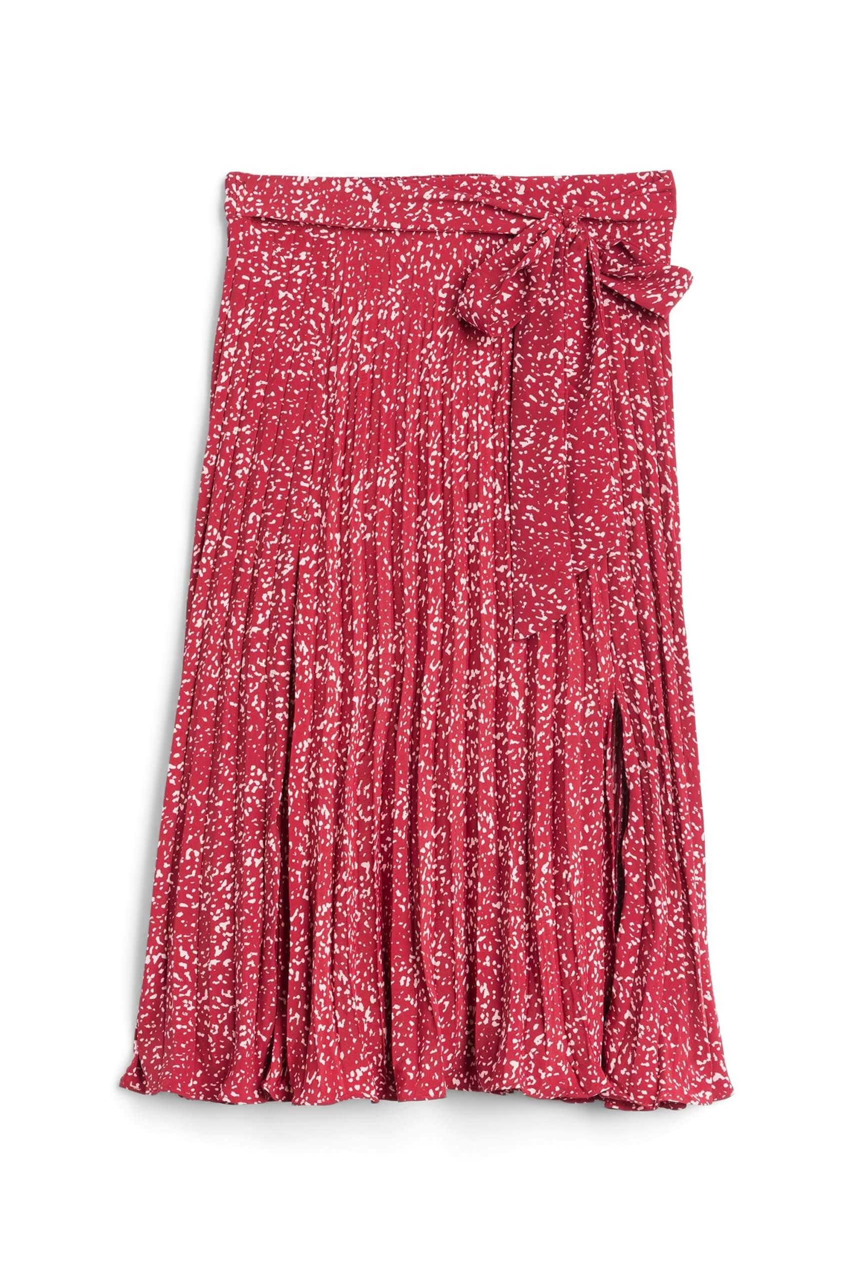 Stitch Fix Women's red floral midi skirt.