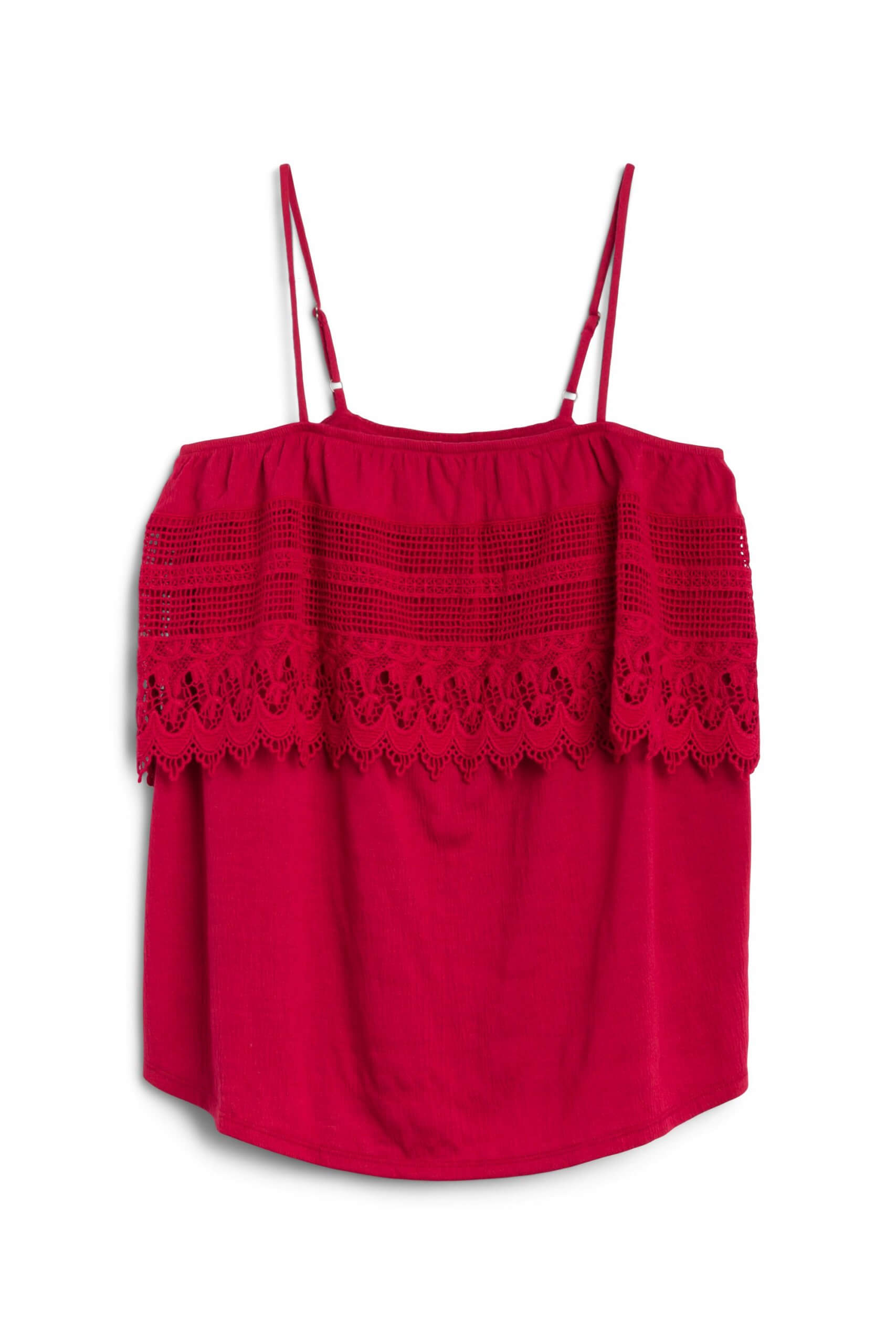 Stitch Fix Women's red lace tank.