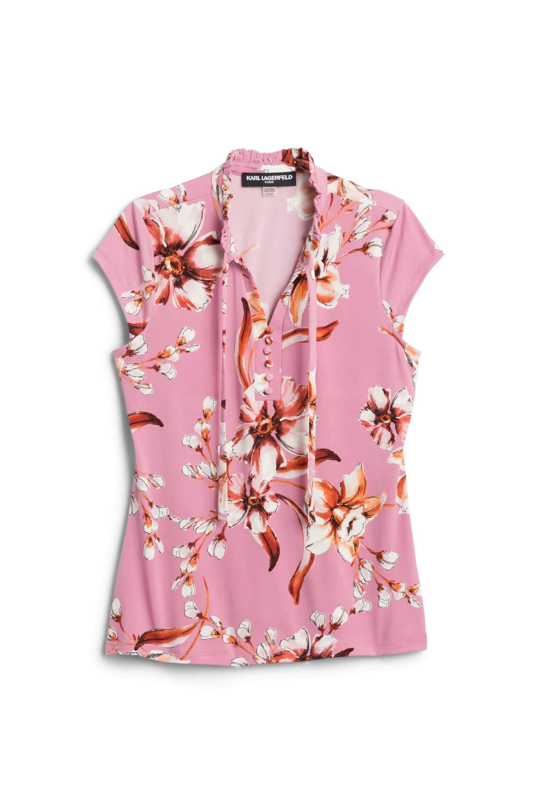 Stitch Fix Women's pink floral blouse.