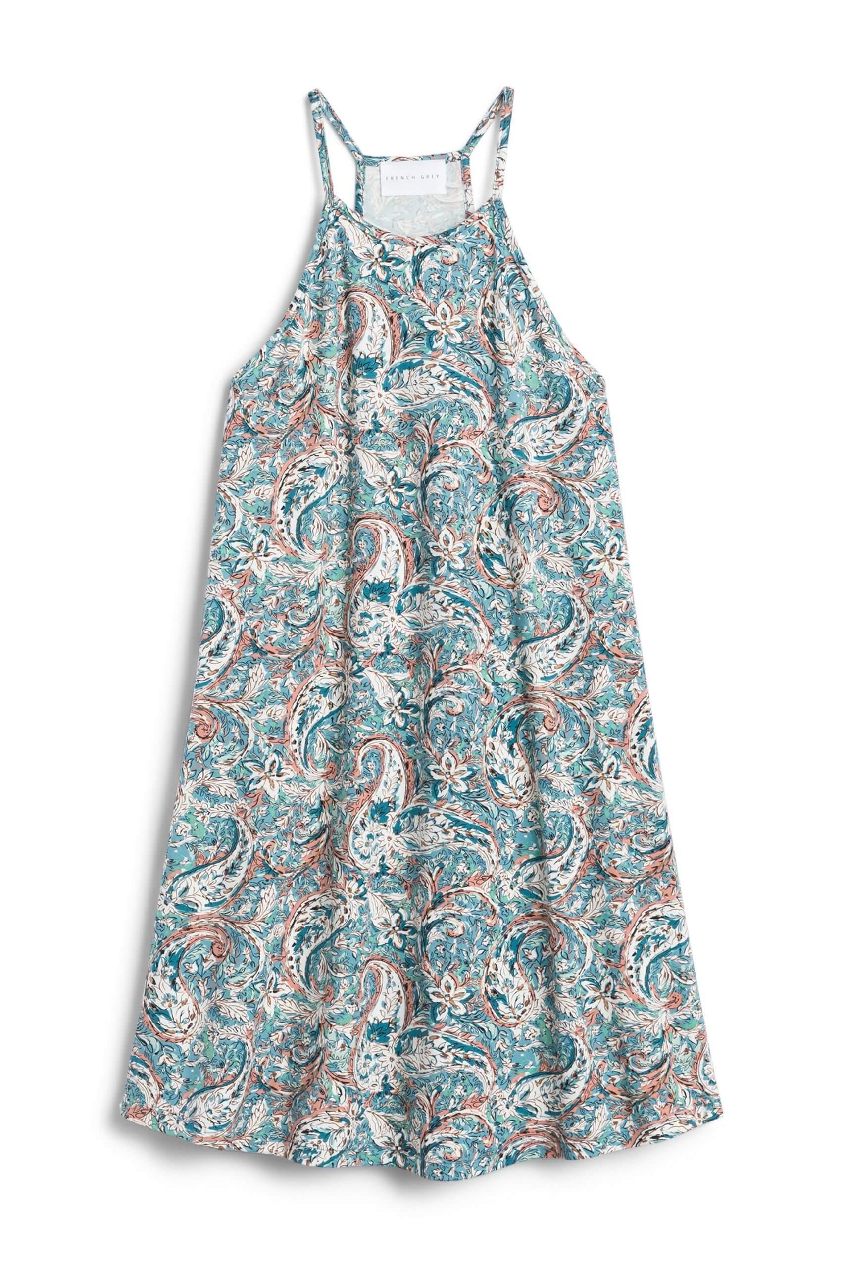 Stitch Fix Women's blue paisley print shift dress.
