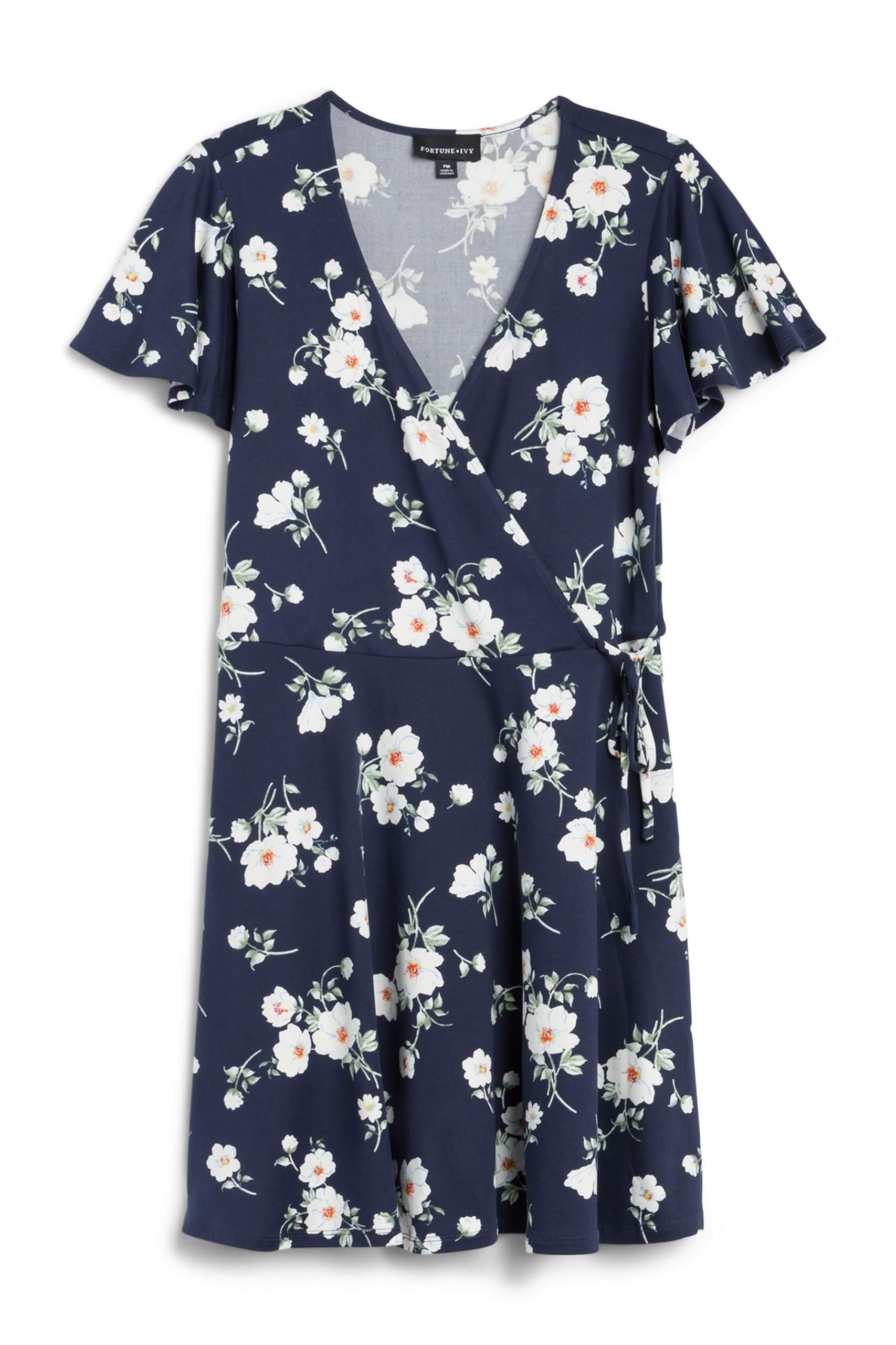 Stitch Fix Women's navy blue floral dress.