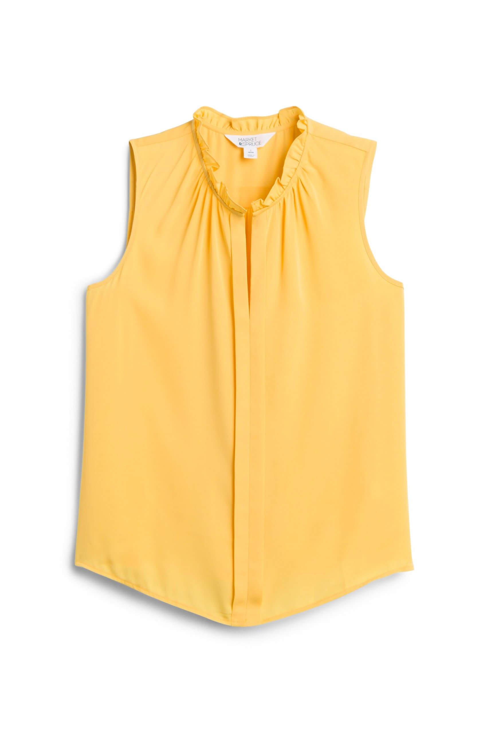 Stitch Fix Women's yellow sleeveless blouse.