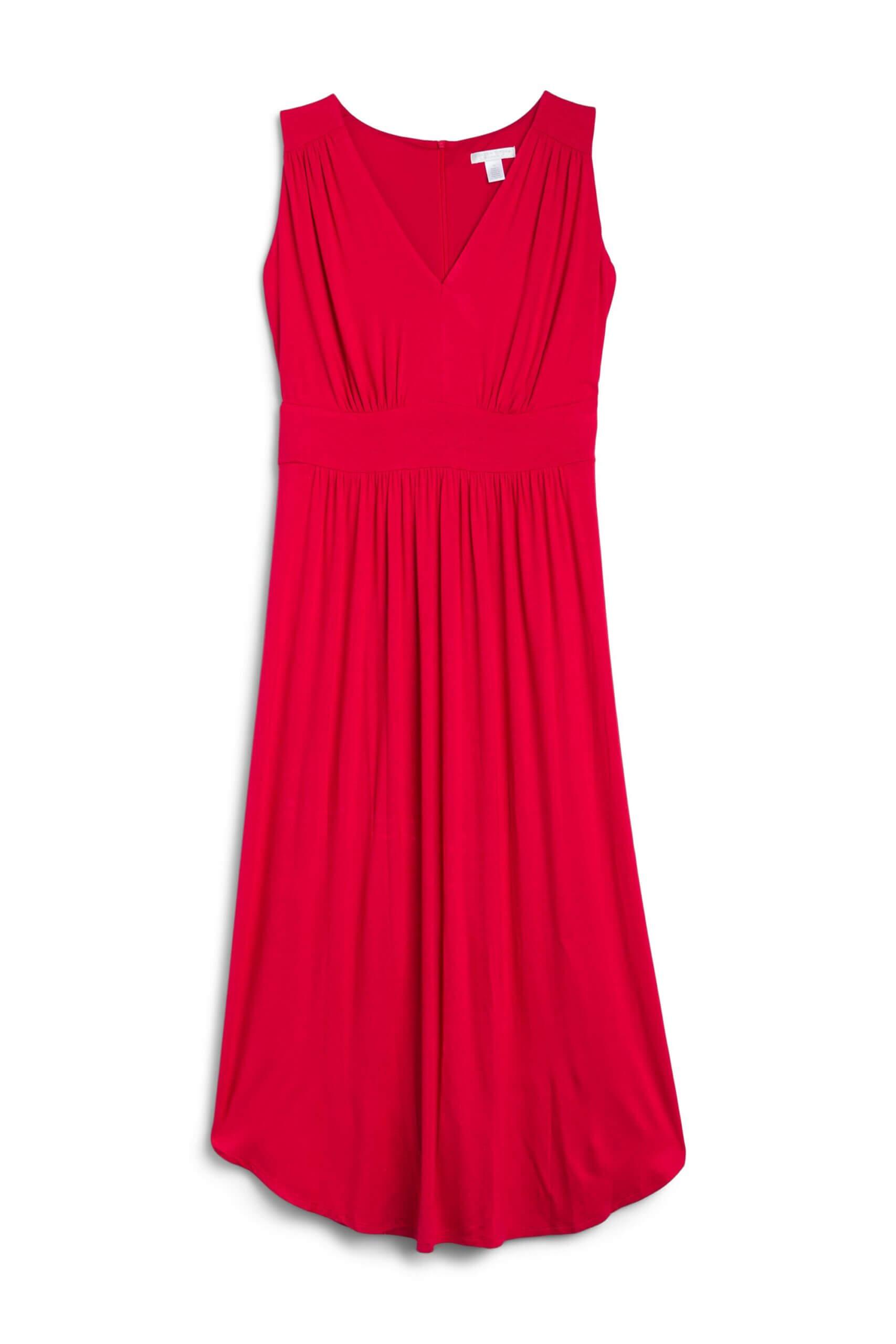 Stitch Fix women's red midi dress.