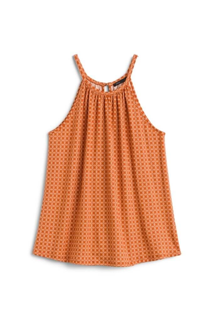 Stitch Fix Women's orange halter tank.