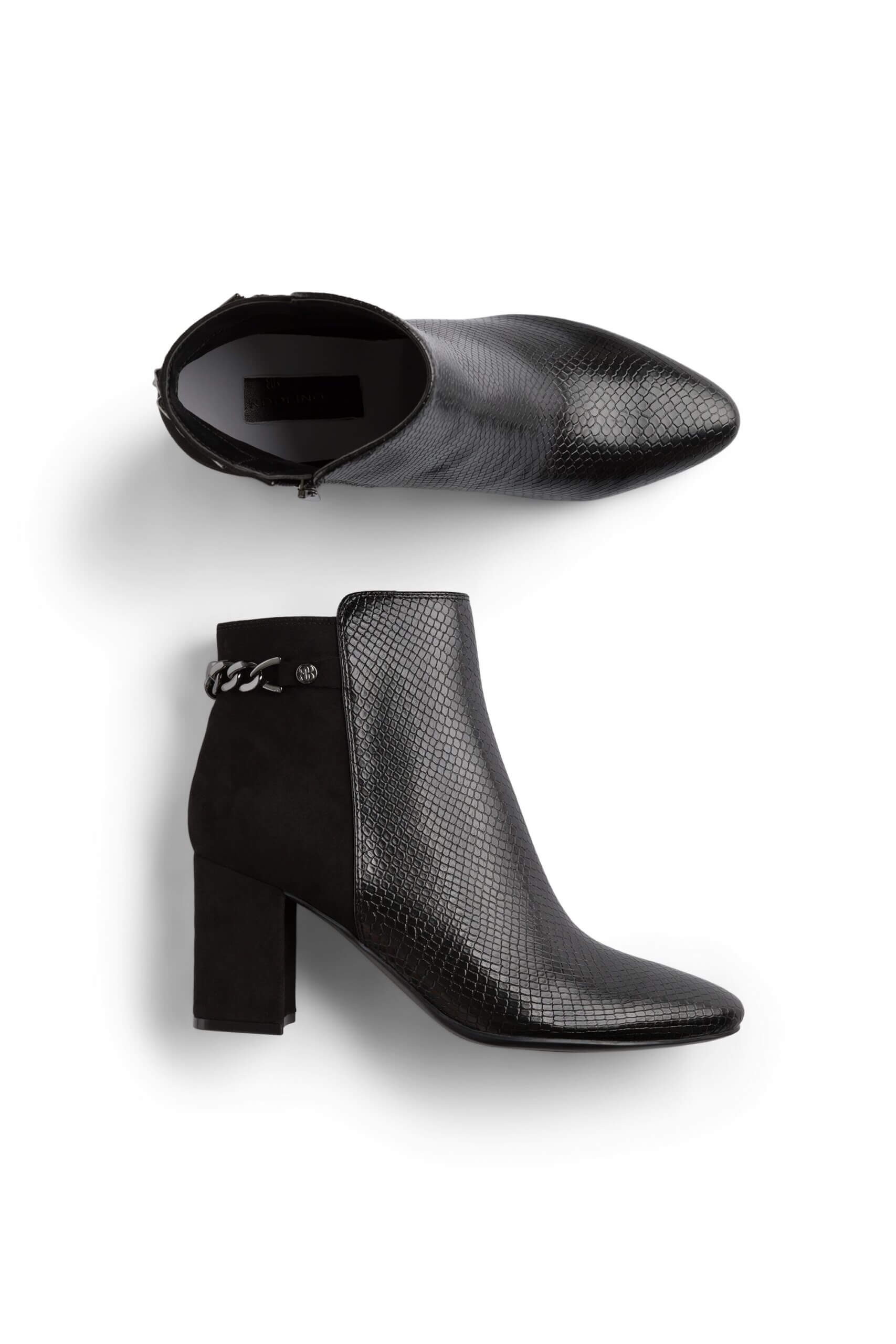 Stitch Fix Women's black block-heeled booties.