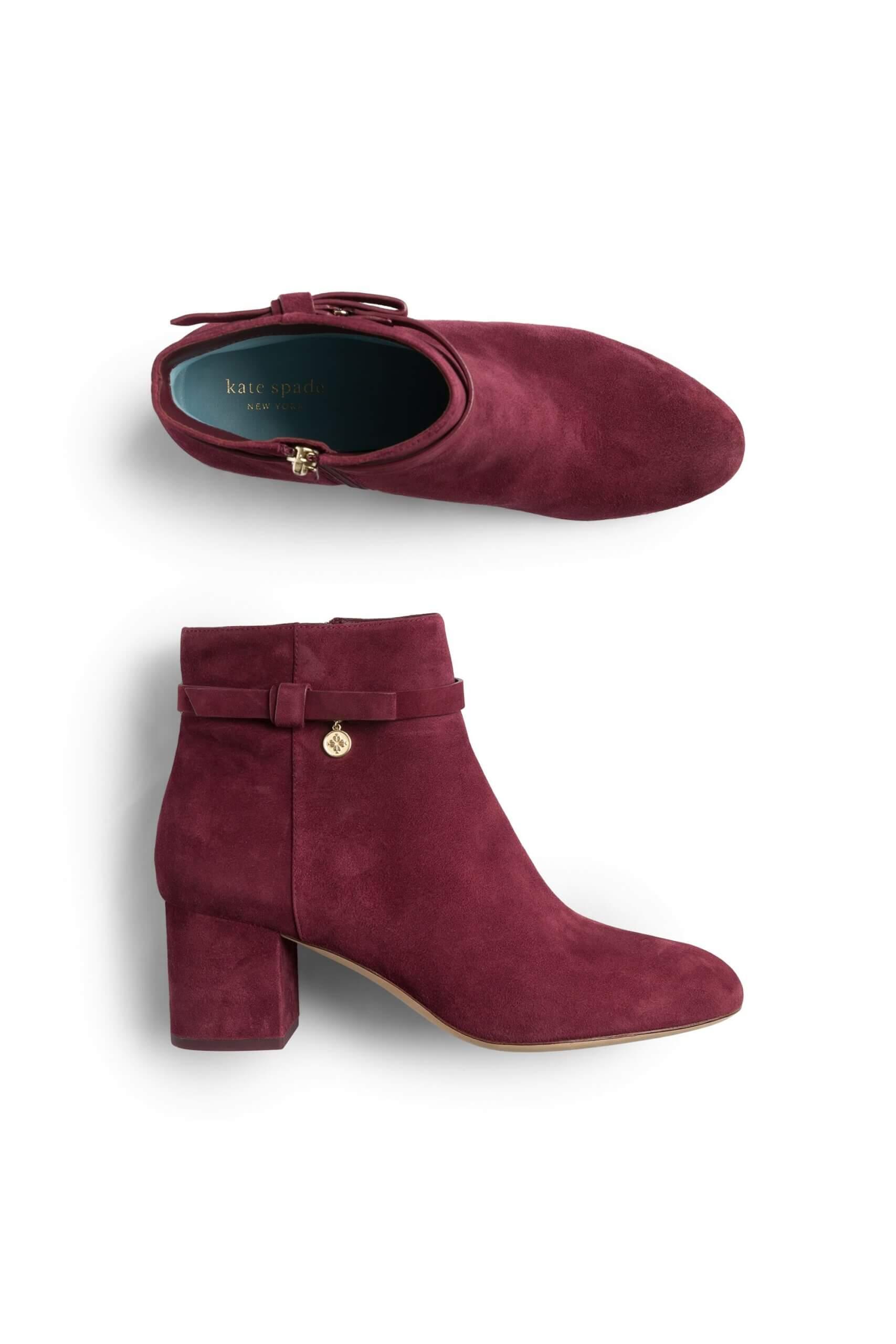 Stitch Fix women's burgundy heeled booties.