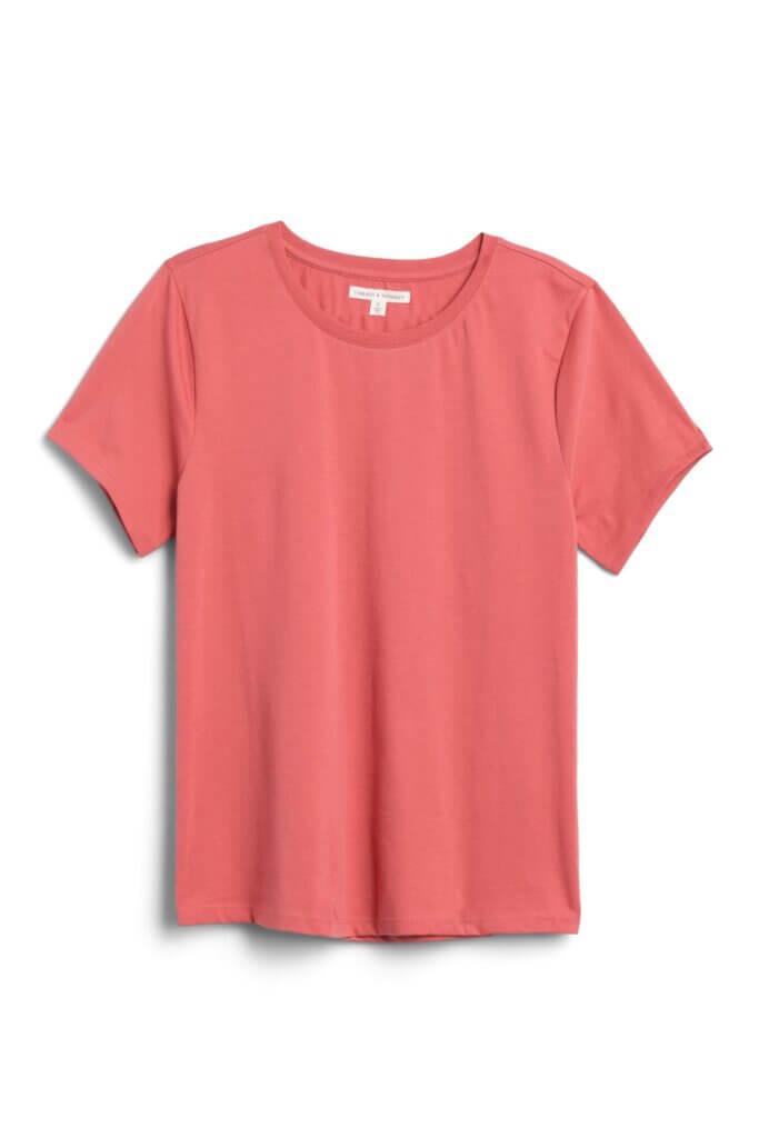 Stitch Fix Women's red crew neck t-shirt.