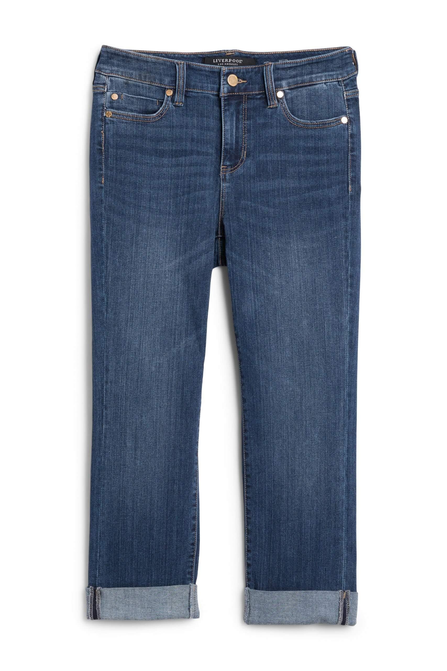 Stitch Fix Women's dark wash cuffed jeans.