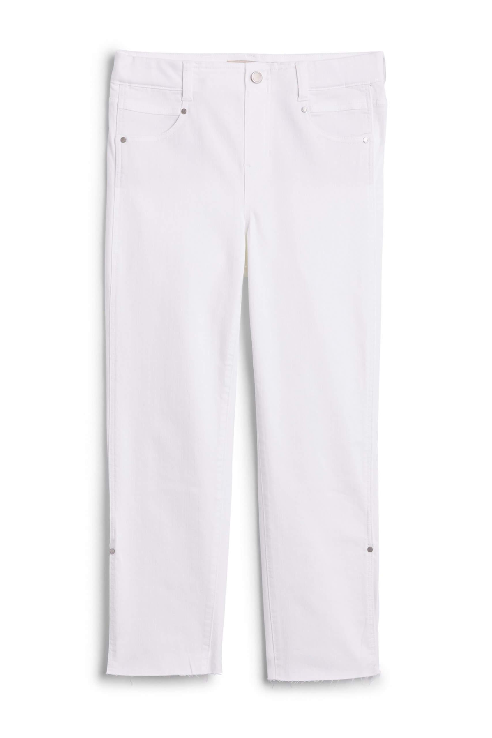 Stitch Fix Women's white cropped jeans.